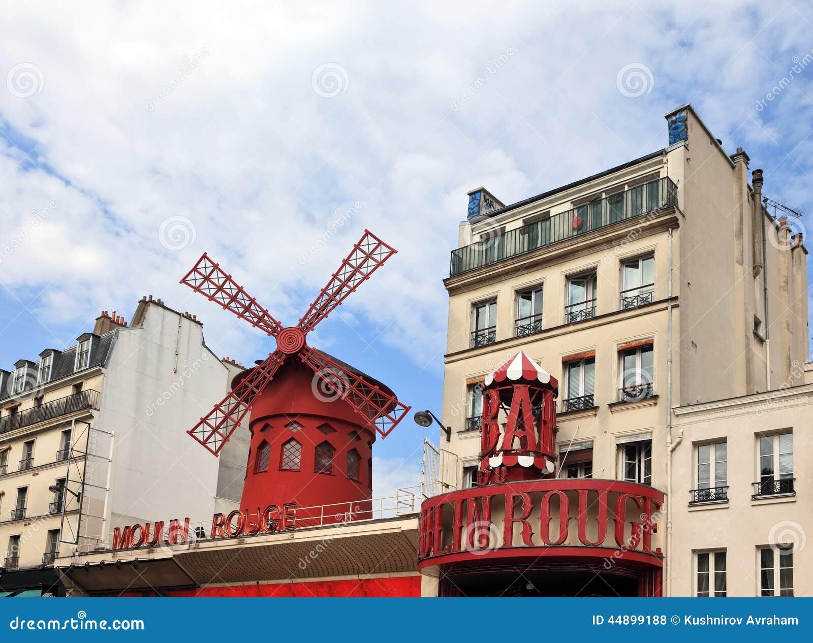 Le cabaret parisien le Moulin rouge