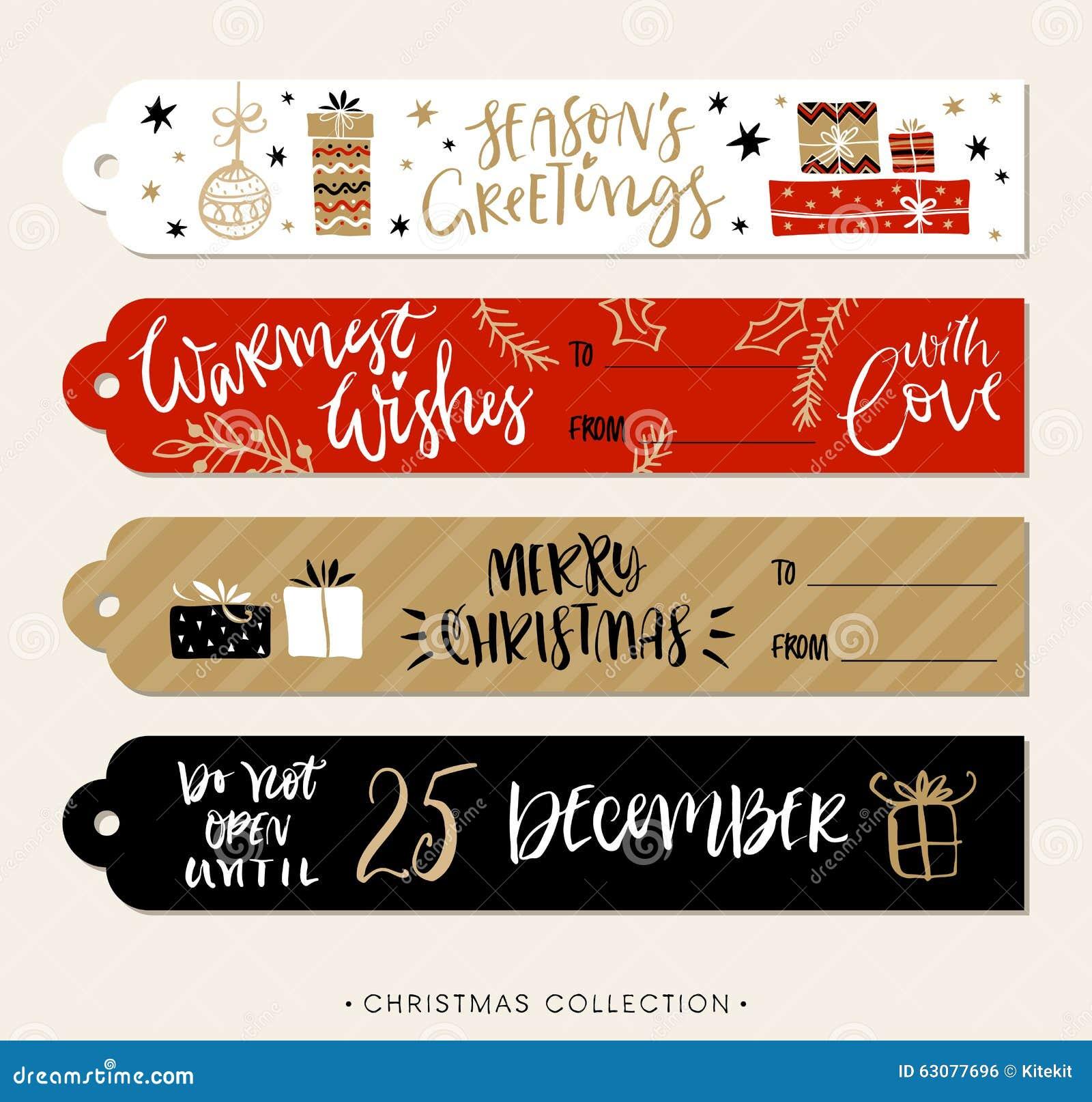 Download Le Cadeau De Noël étiquette Et Des Labels Avec La Calligraphie Illustration de Vecteur - Illustration du joyeux, main: 63077696