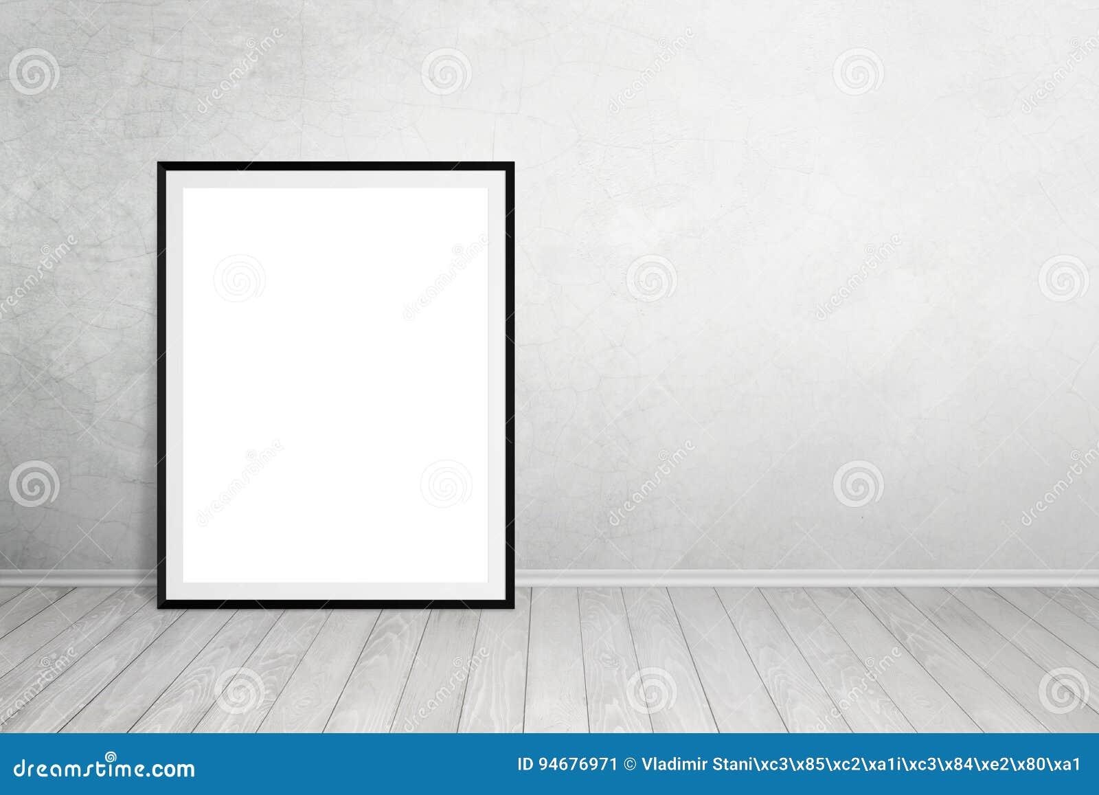 Le Cadre D Affiche S Est Penché Sur Le Mur Avec L Espace Libre Pour Le