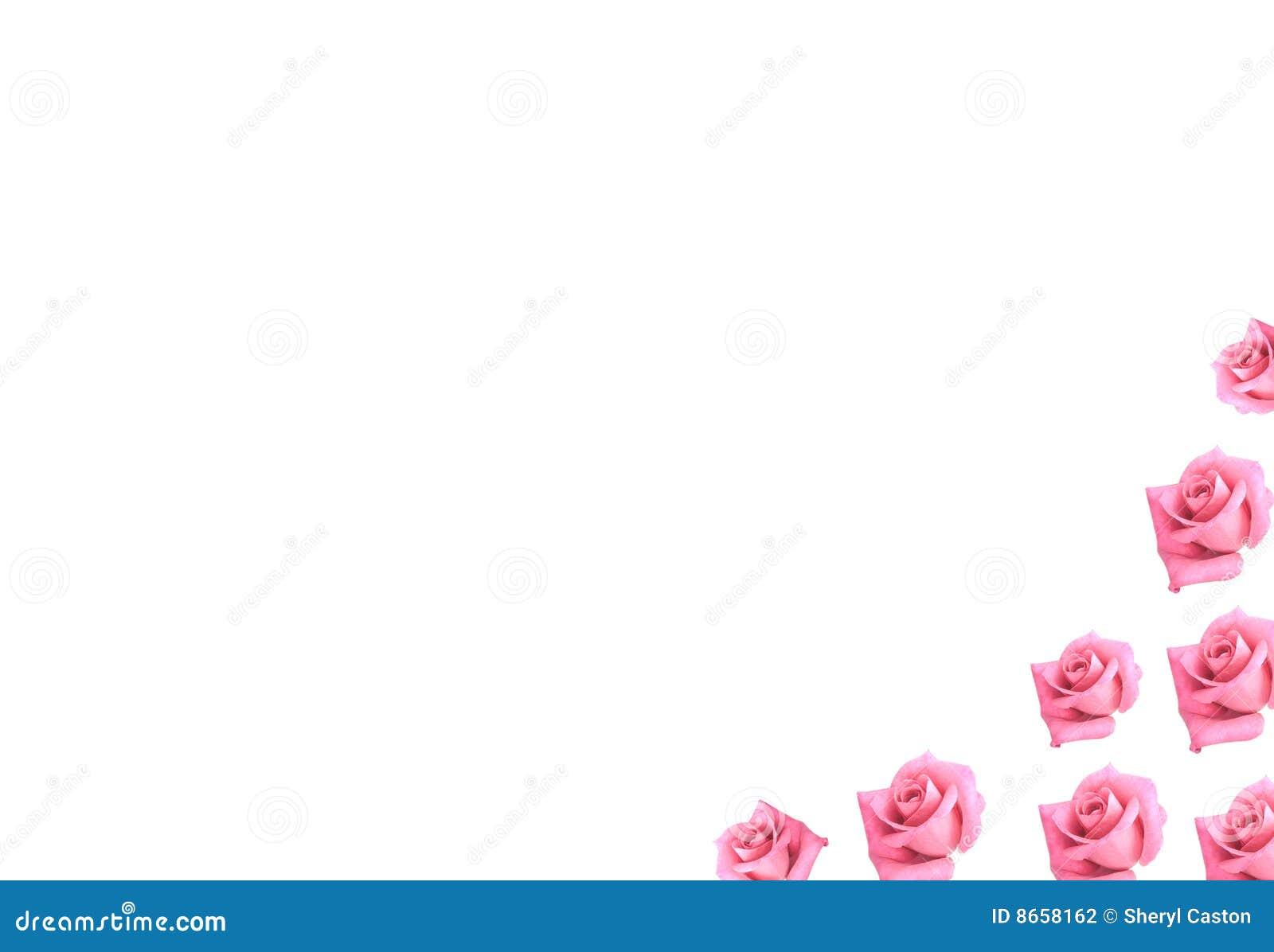 Le cadre de fond fleurit les roses roses scrapbooking