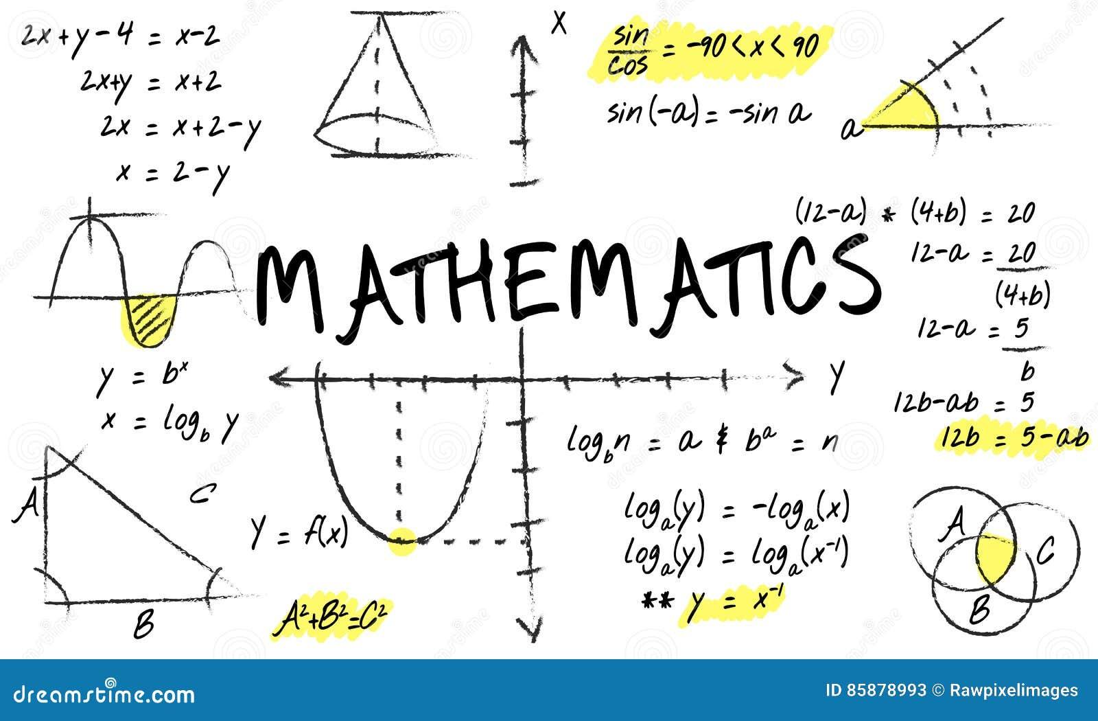 le calcul d 39 alg bre de maths de math matiques num rote le concept illustration stock. Black Bedroom Furniture Sets. Home Design Ideas