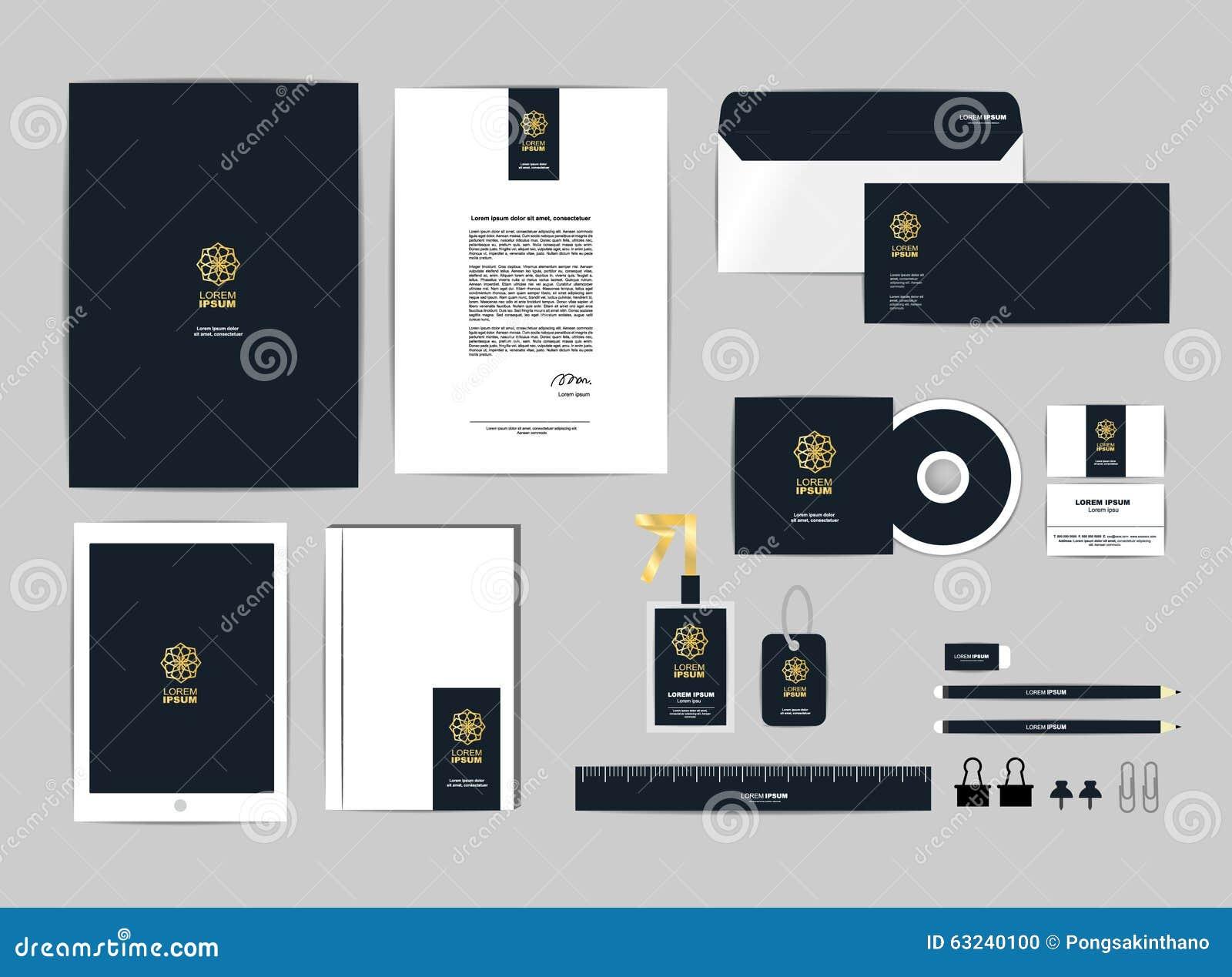Le Calibre D Identit Entreprise Pour Vos Affaires Inclut La Couverture CD Carte De