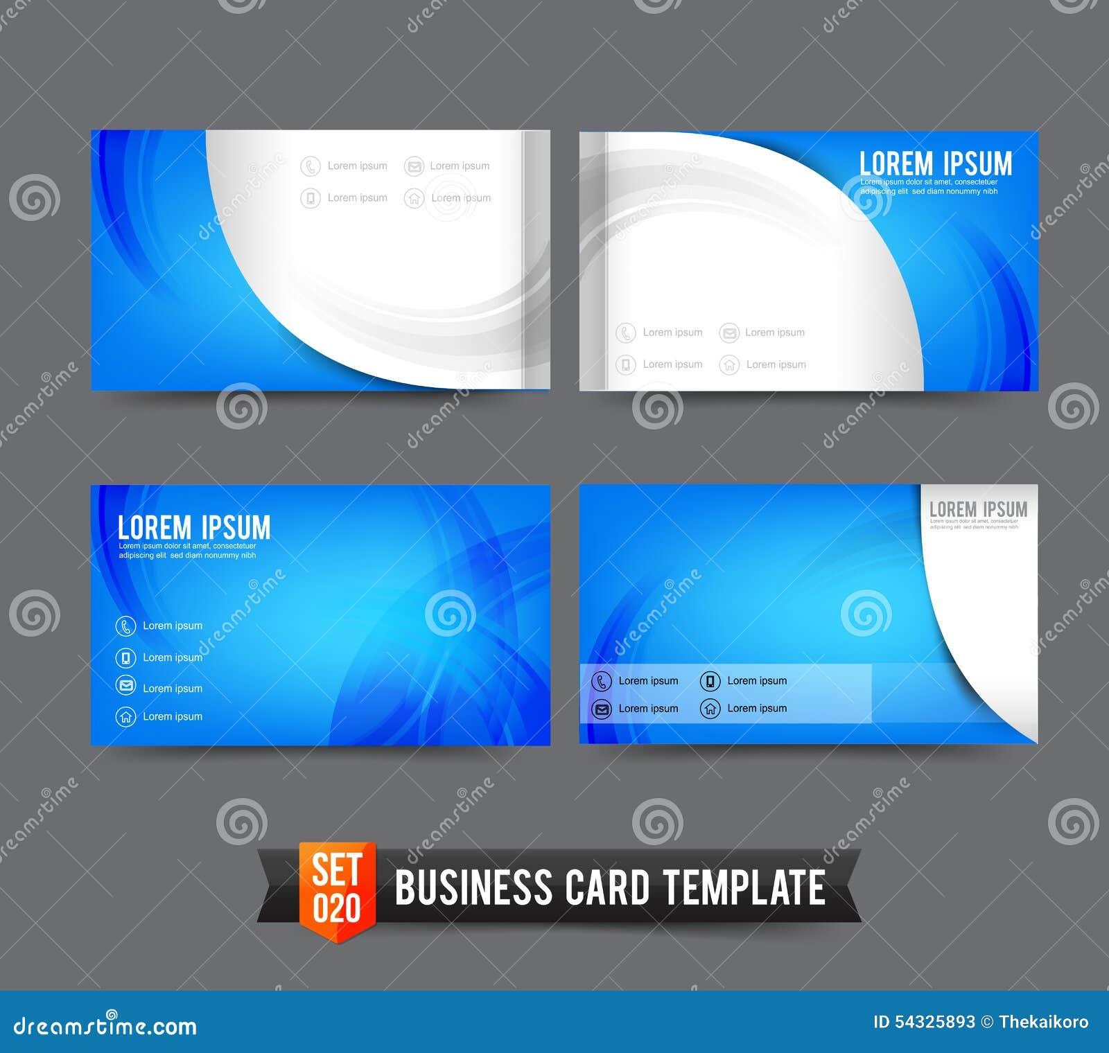 Le Calibre De Carte Visite Professionnelle A Plac 020 Lment Bleu Et