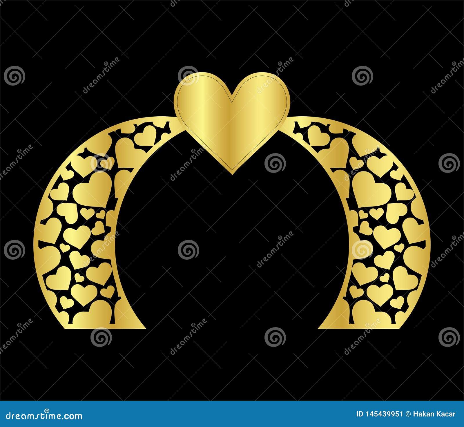 Le calibre islamique de porte de voûte de mariage de laser pour couper du vinyle le décor est un modèle à jour stylisé de