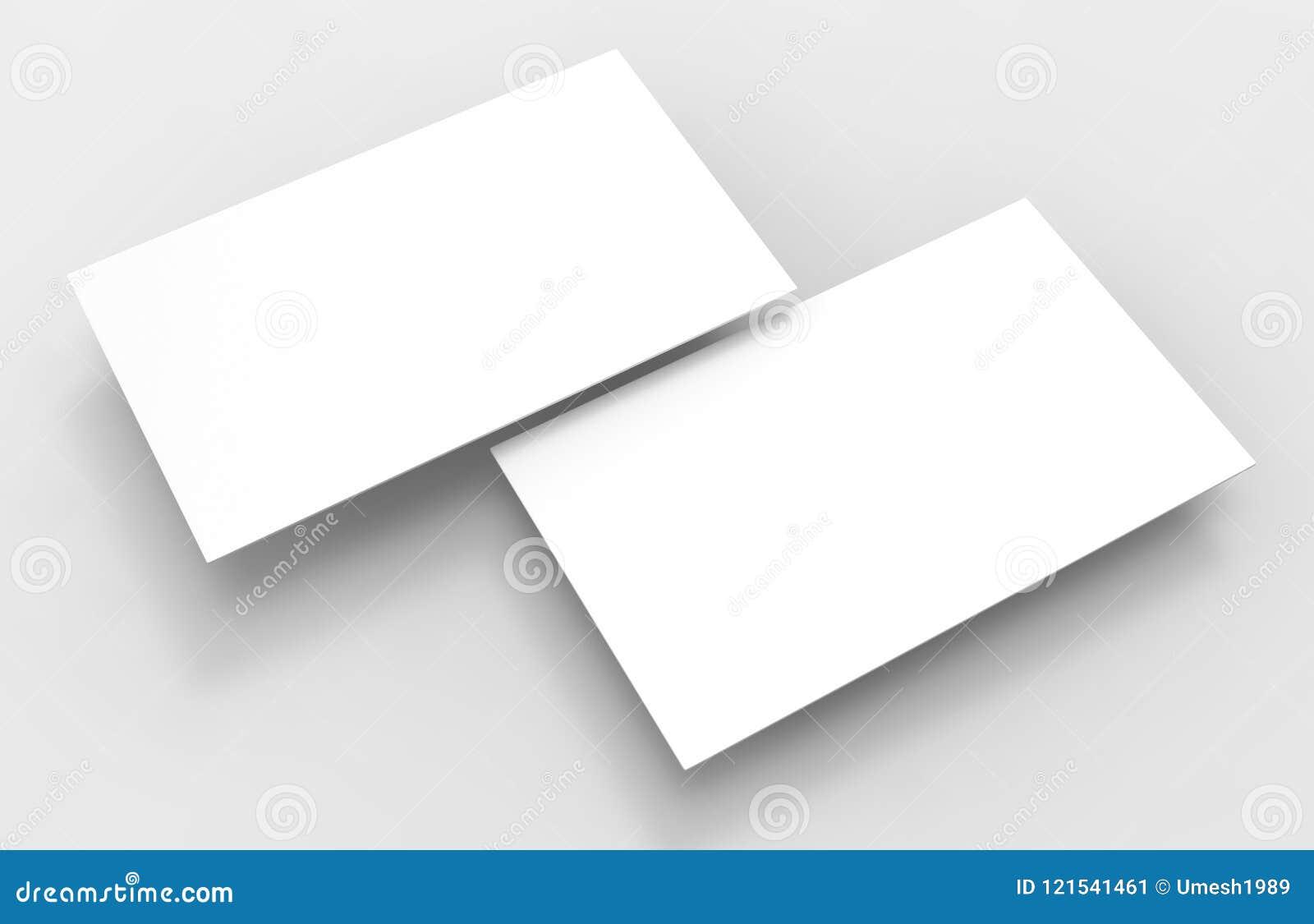 Le Calibre Vide 3d De Carte Visite Du Blanc Rendent L Illustration Pour La