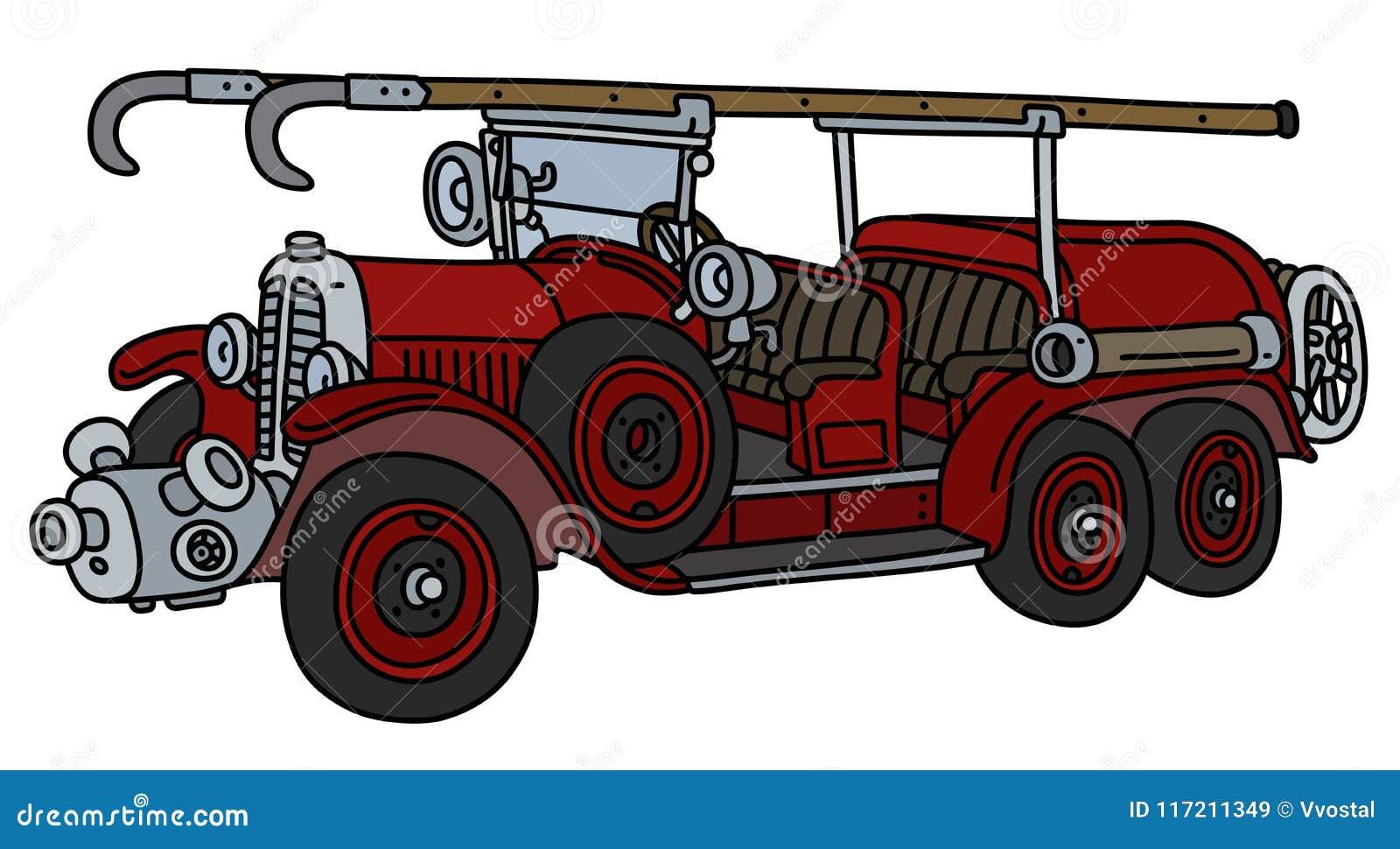 Le camion de pompiers de vintage