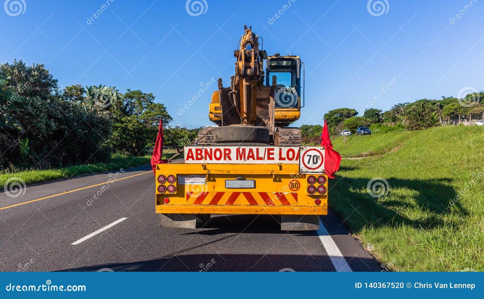 Le camion transporte la route d Earth Work Machine d excavatrice