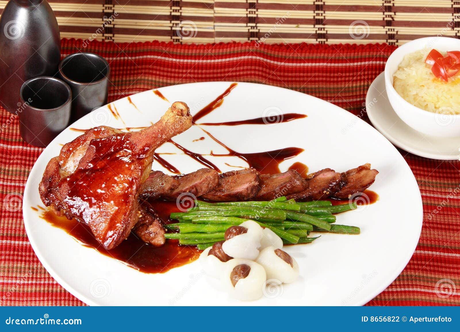Le canard Pékin a rôti