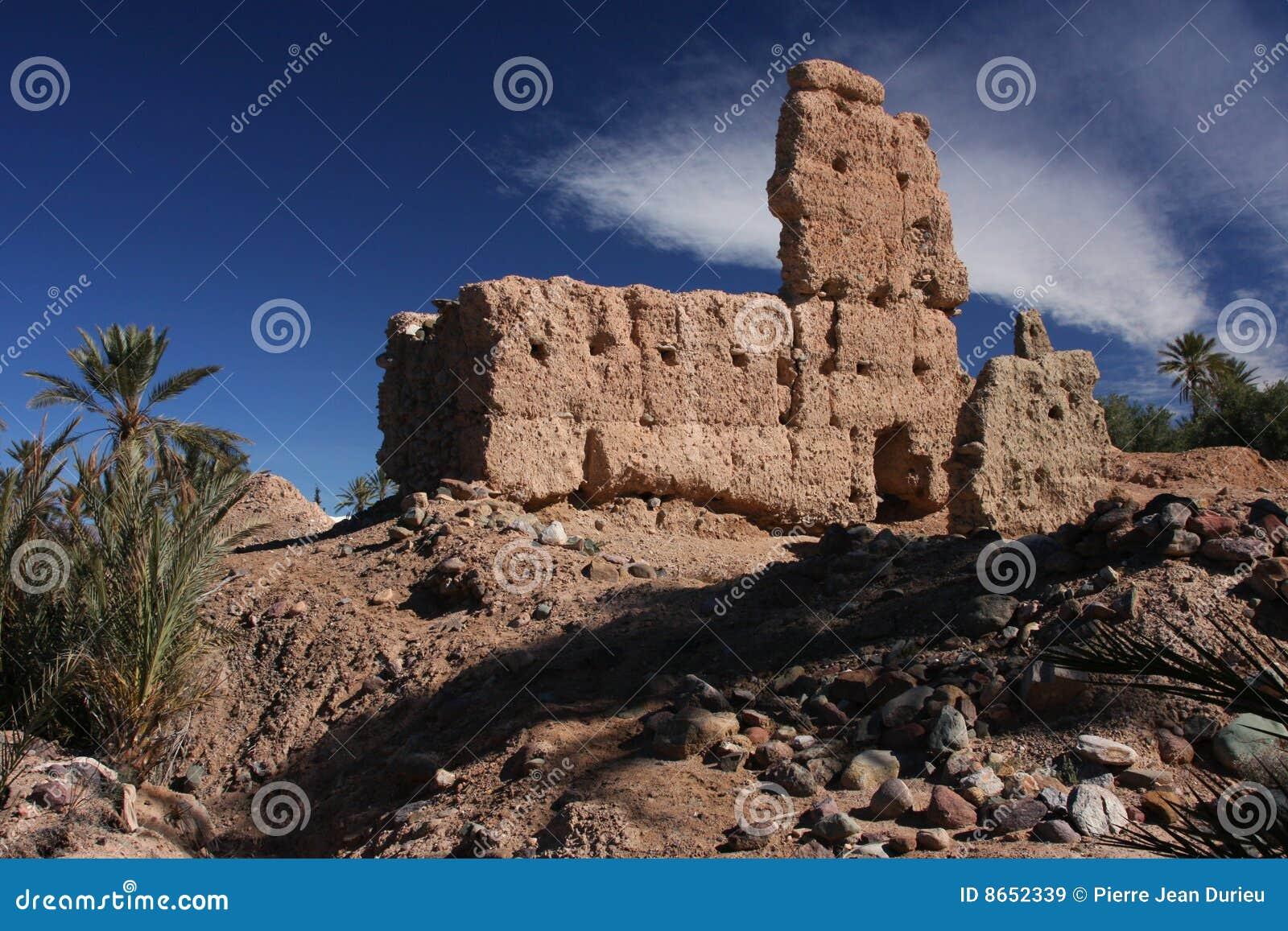 Le casbah ruine le skoura
