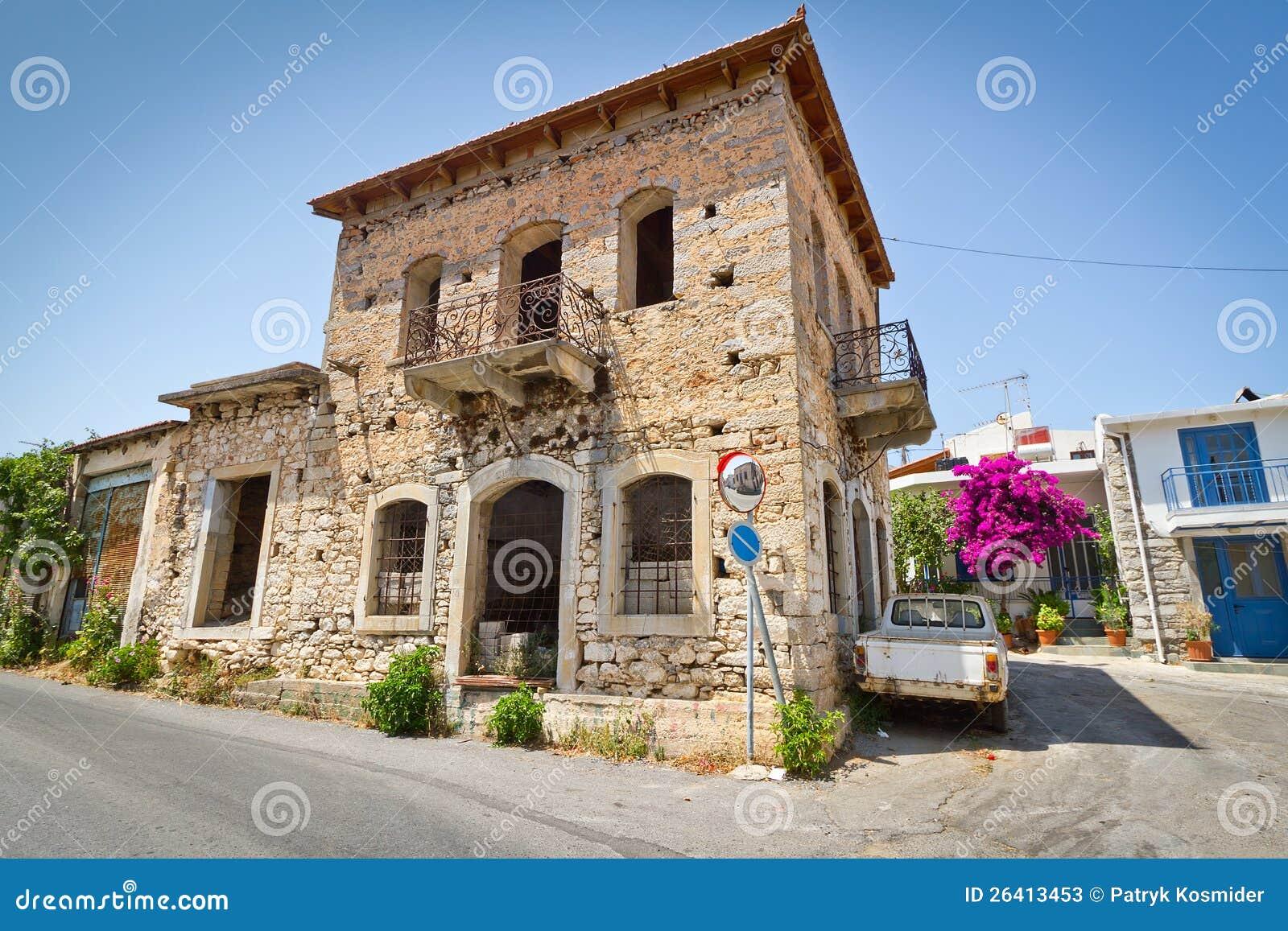 Le case greche classiche in cittadina di lasithi plat for Fotografie case