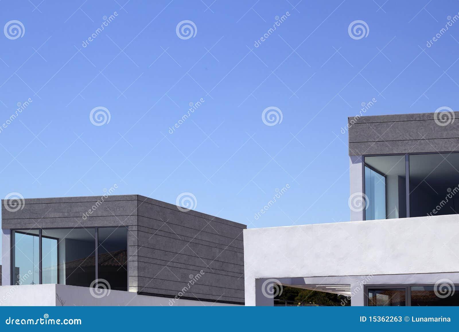 Le case moderne di architettura potano i particolari Le case moderne