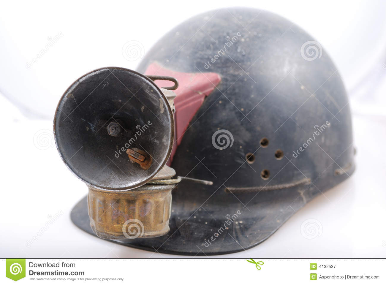 le casque de mineur de cru image stock image du casque 4132537. Black Bedroom Furniture Sets. Home Design Ideas