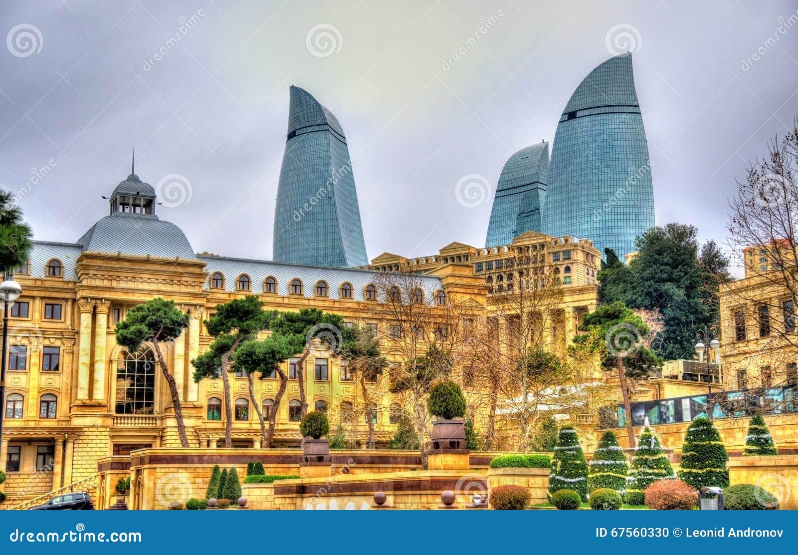 Le centre de la ville de Bakou