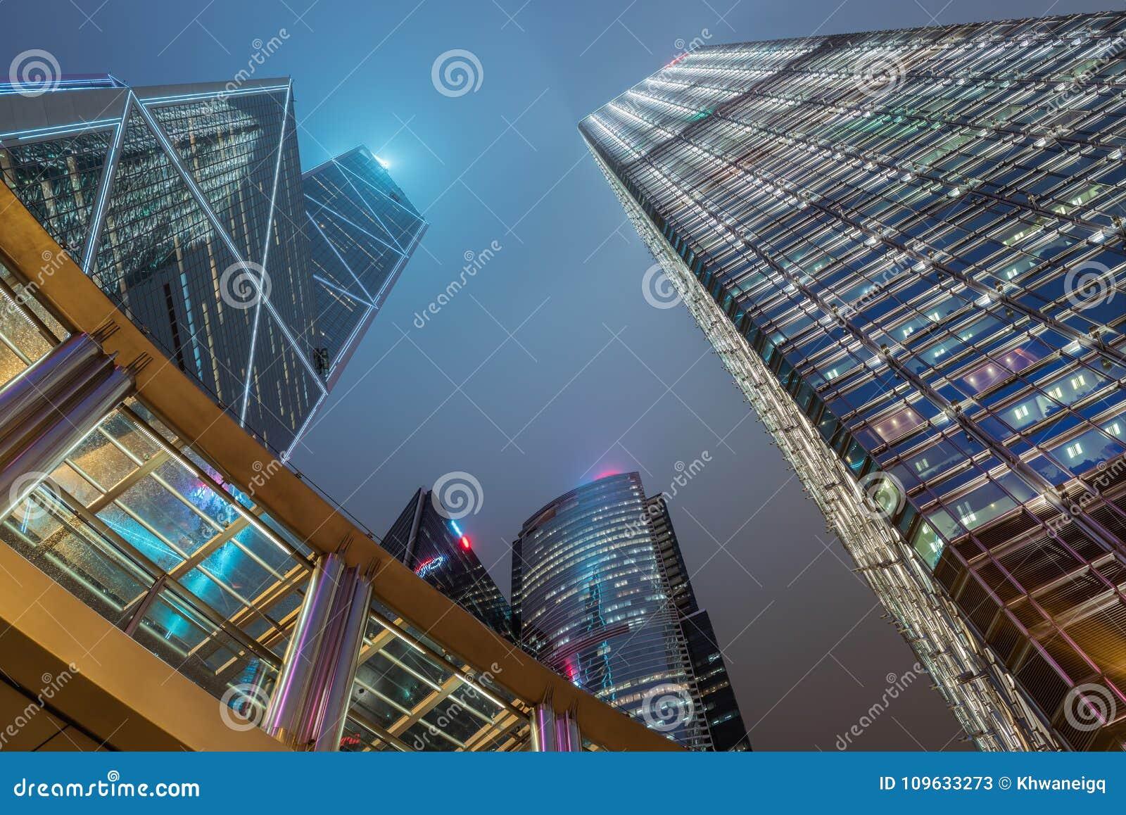 Le centre ville de Hong Kong et centre d affaires, bâtiments de Skycraper