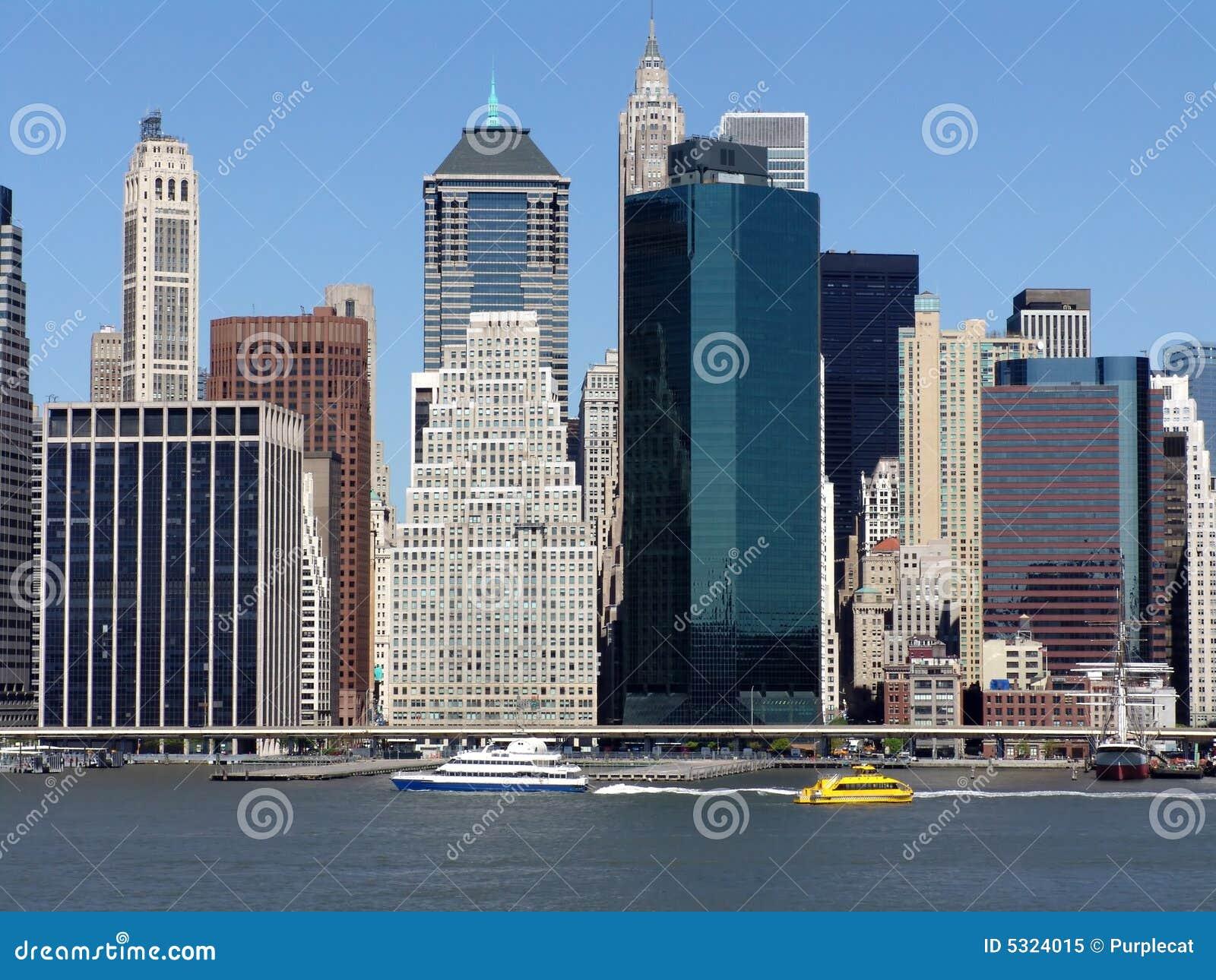 Le centre ville de manhattan new york photo libre de for Ville a new york