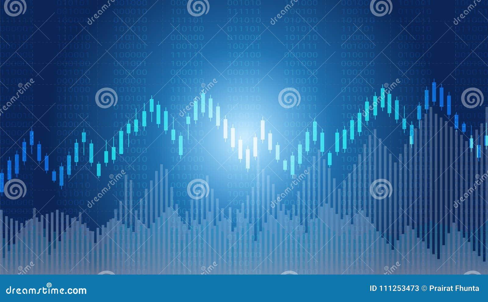 Le chandelier d affaires et le graphique financier dressent une carte approprié au concept marchand d investissement de marché bo