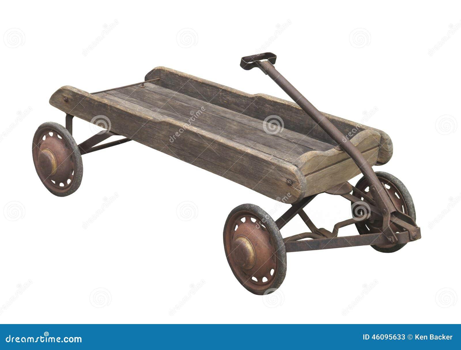 le chariot en bois du vieil enfant d 39 isolement image stock image du us chariot 46095633. Black Bedroom Furniture Sets. Home Design Ideas