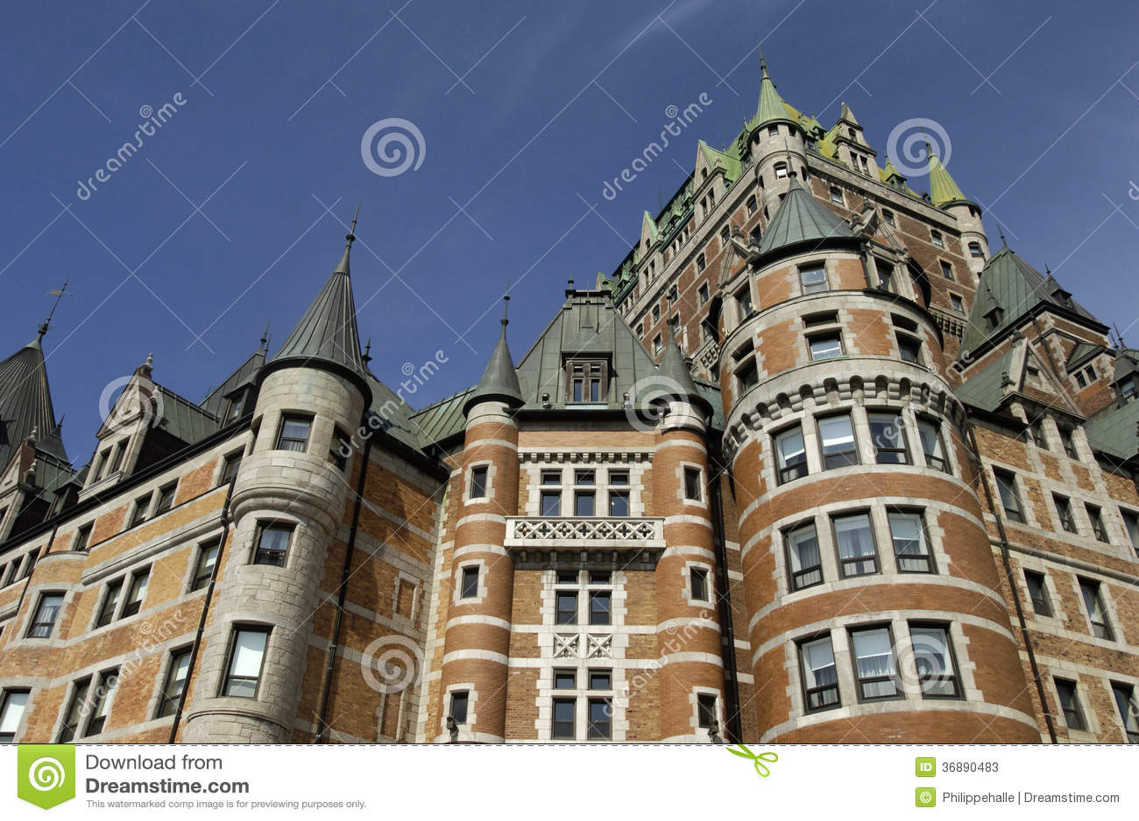 Download Le Chateau Frontenac Nella Città Della Quebec Immagine Stock - Immagine di eredità, facade: 36890483