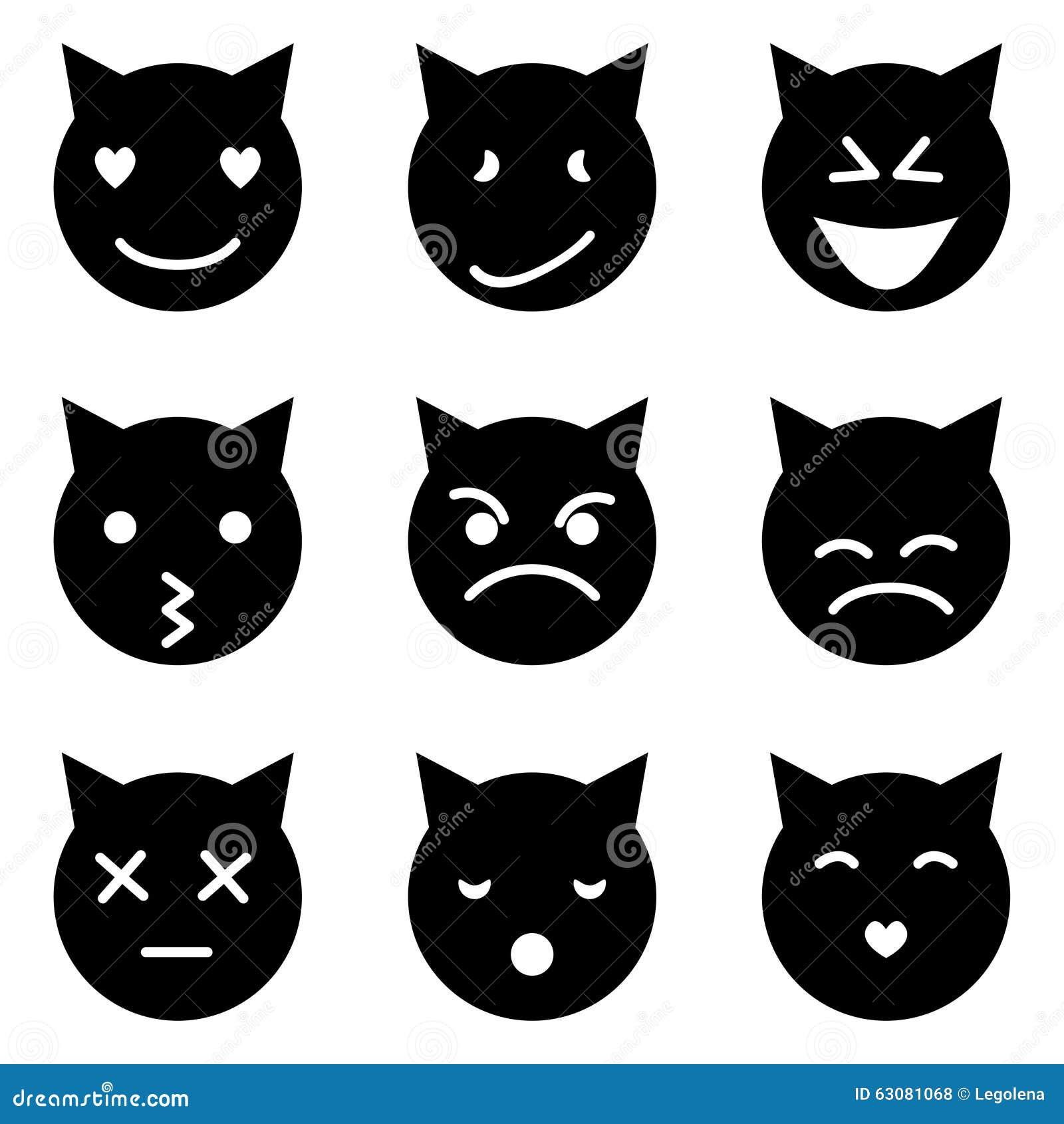 Download Le Chaton Fait Face à émotif Illustration de Vecteur - Illustration du émoticône, amour: 63081068