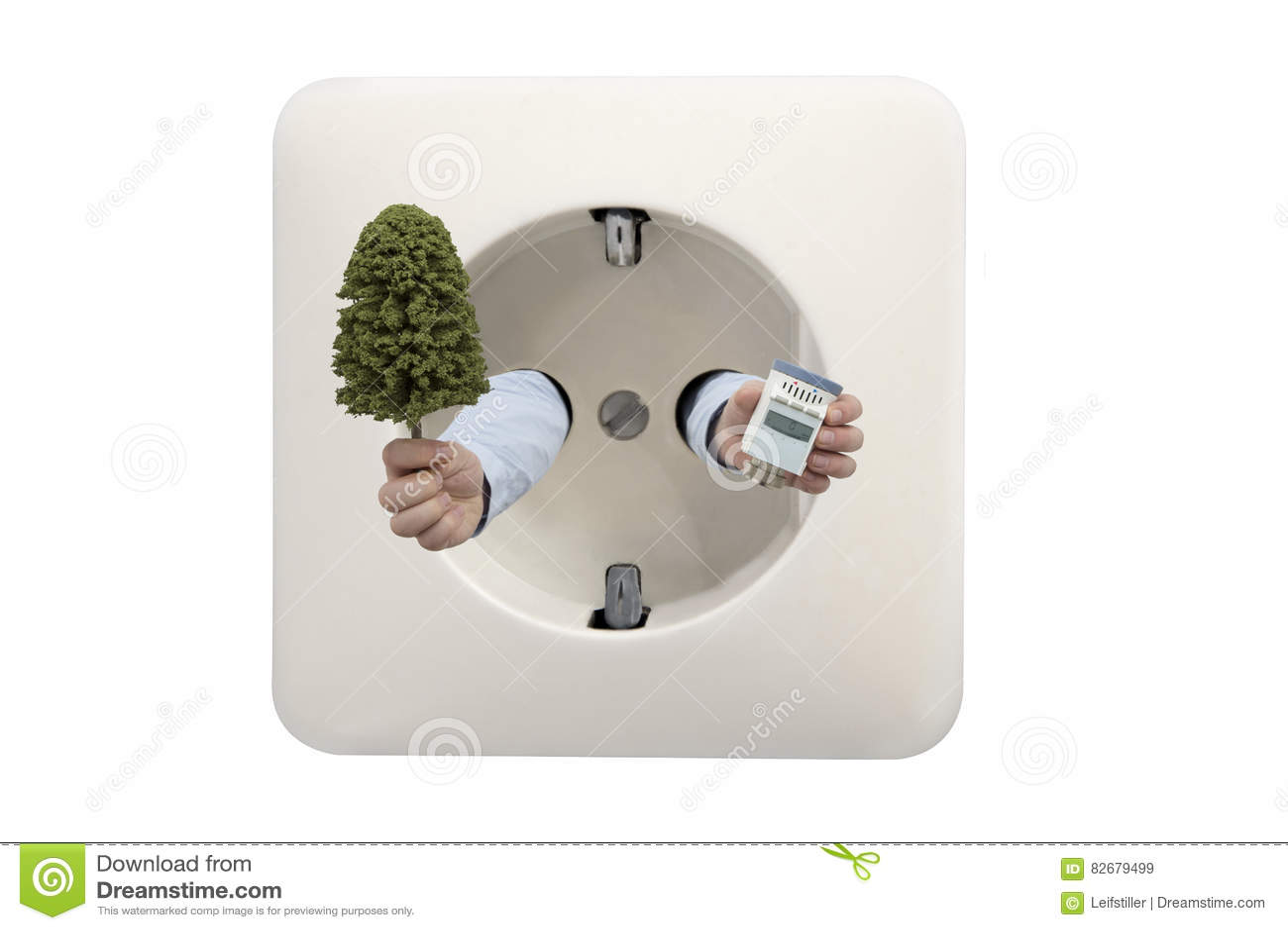 Le chauffage d économie avec le thermostat aide la nature