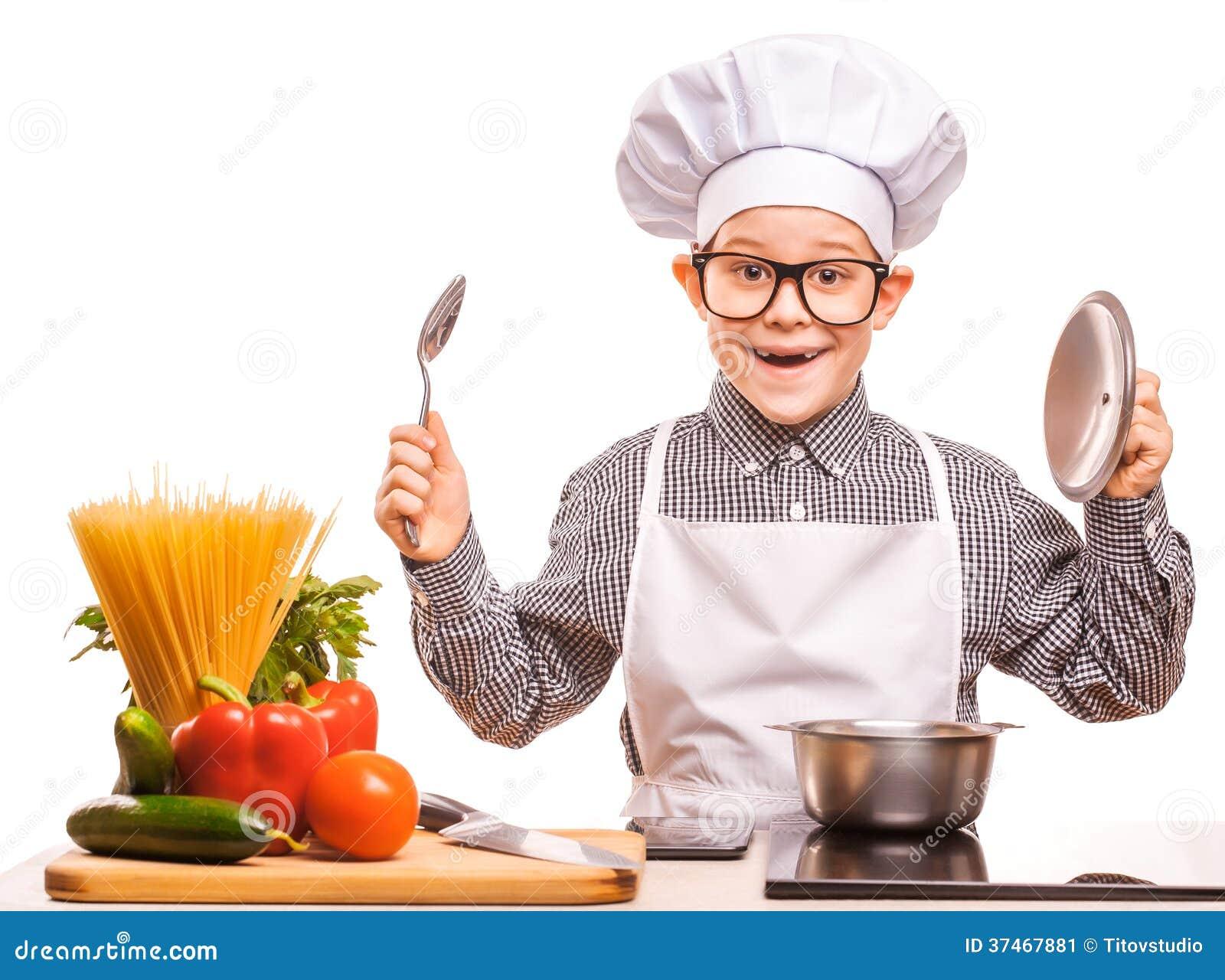 Le chef de gar on fait cuire dans la cuisine image stock image 37467881 - Couple faisant l amour dans la cuisine ...
