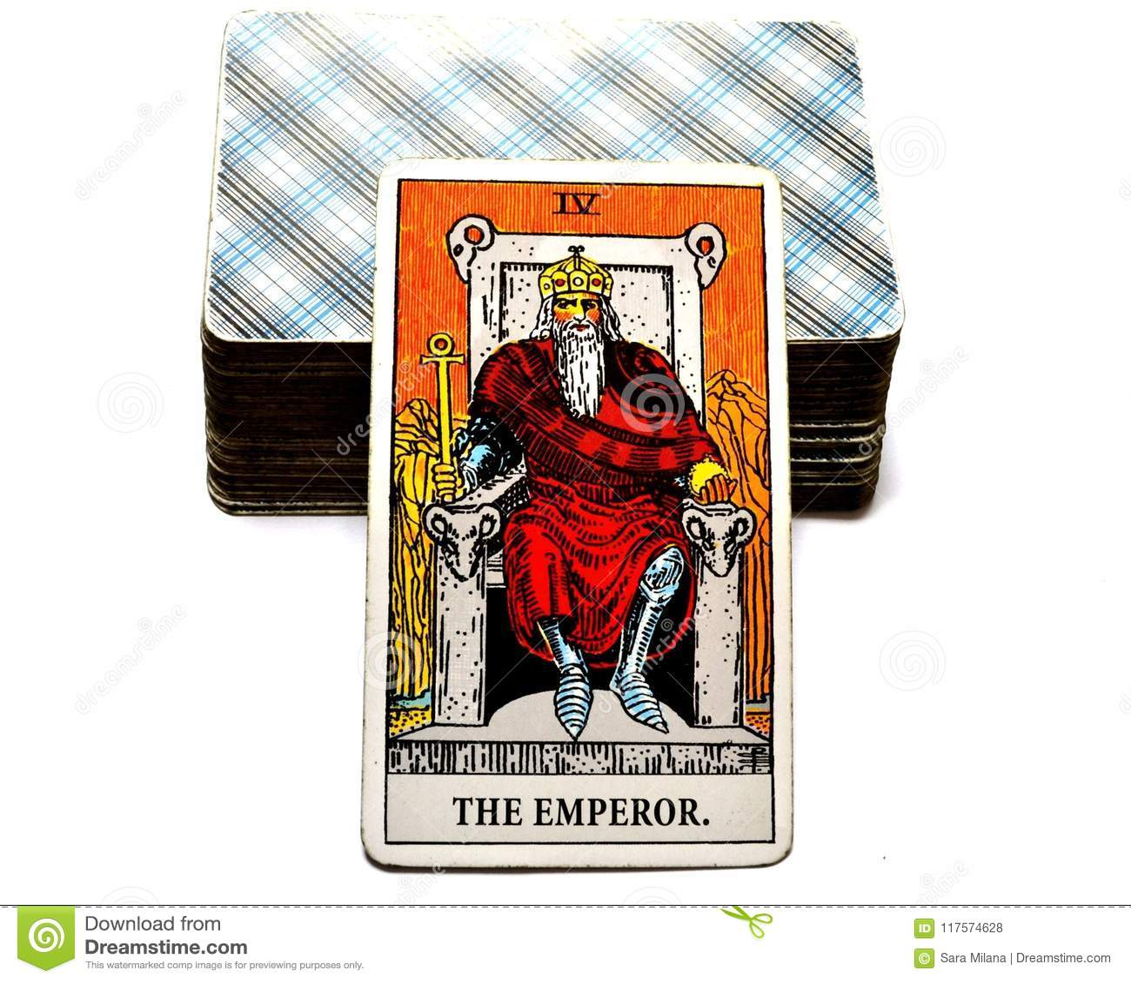 Le Chef Ruler King Boss de puissance de carte de tarot d empereur