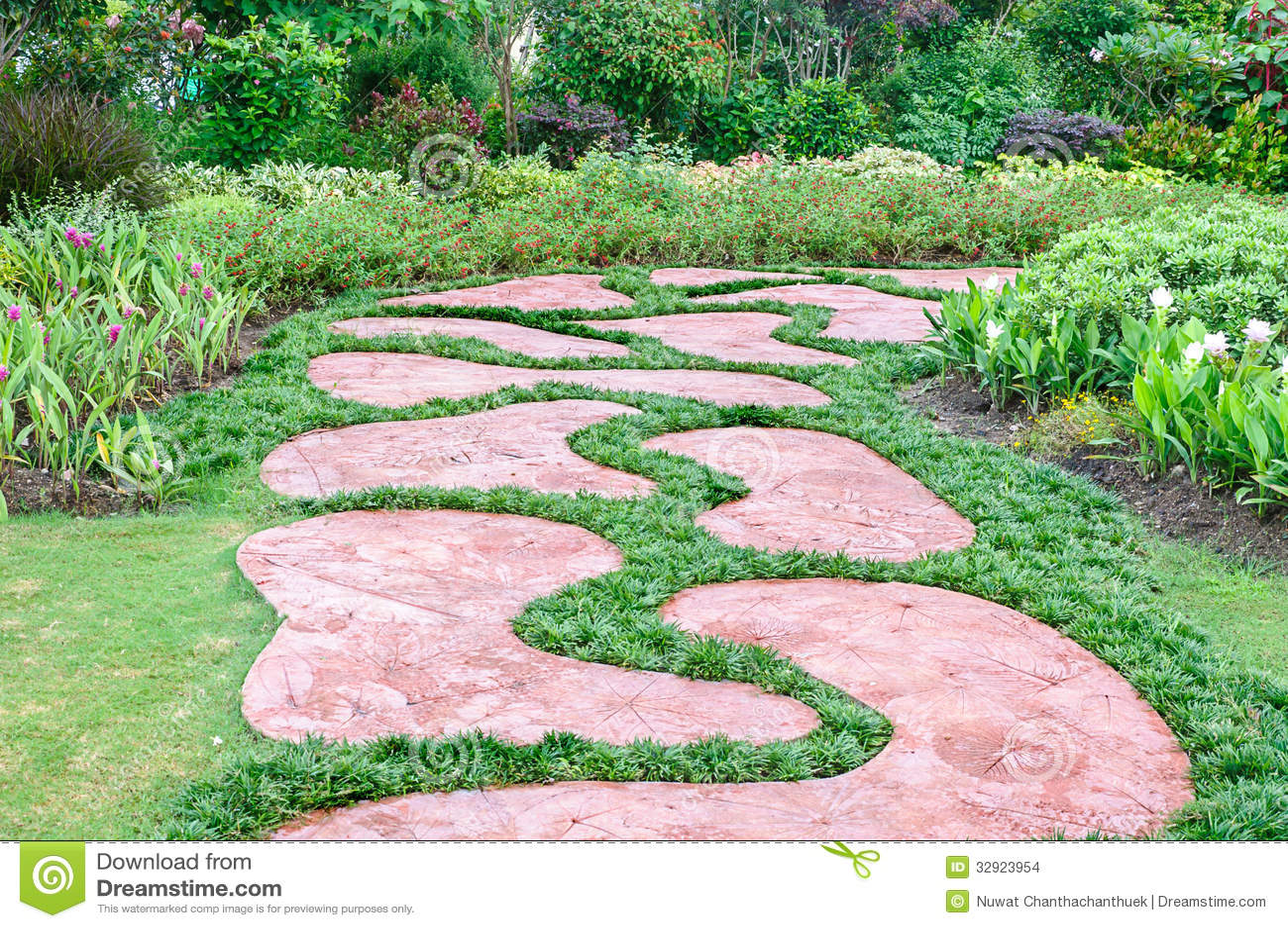 Le chemin dans le jardin.