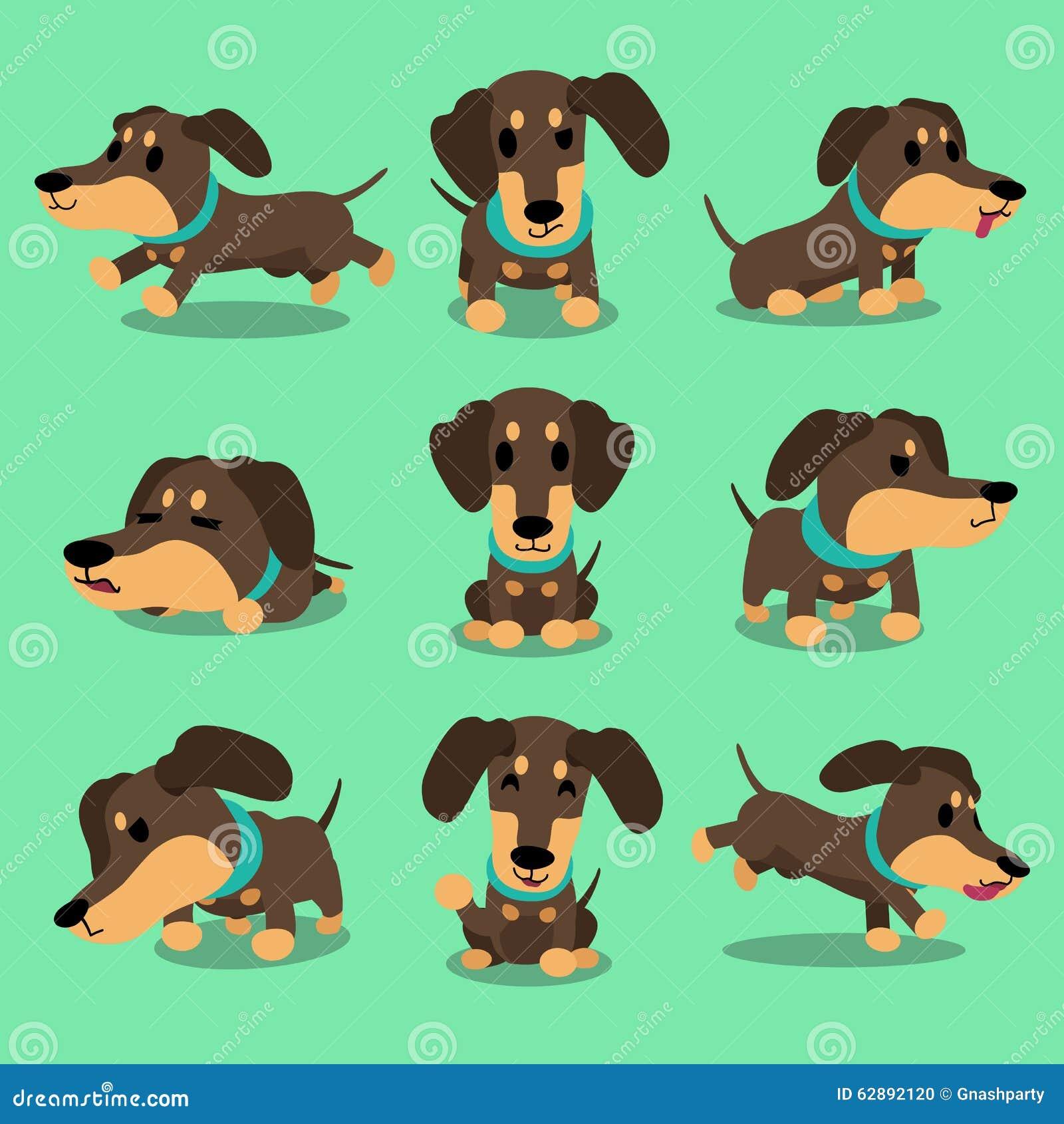 Le chien de teckel de personnage de dessin anim pose la - Dessin teckel ...