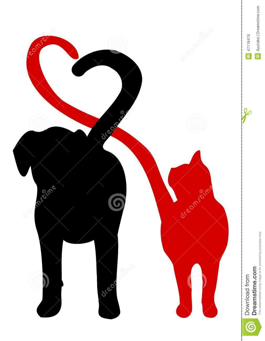 Cat Silhouette No Dogs Sign