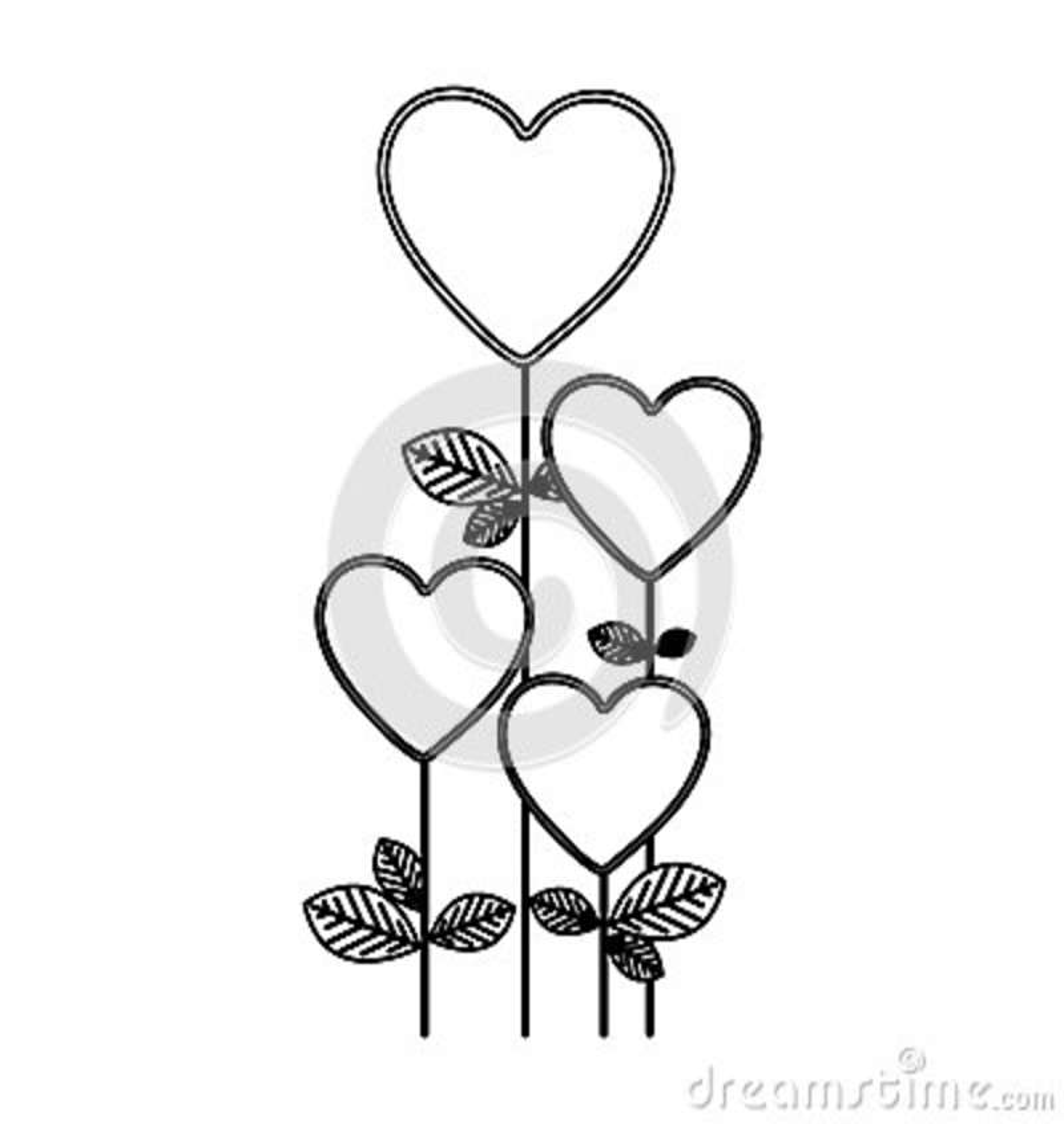 Le chiffre coeur monte en ballon l icône d arbres