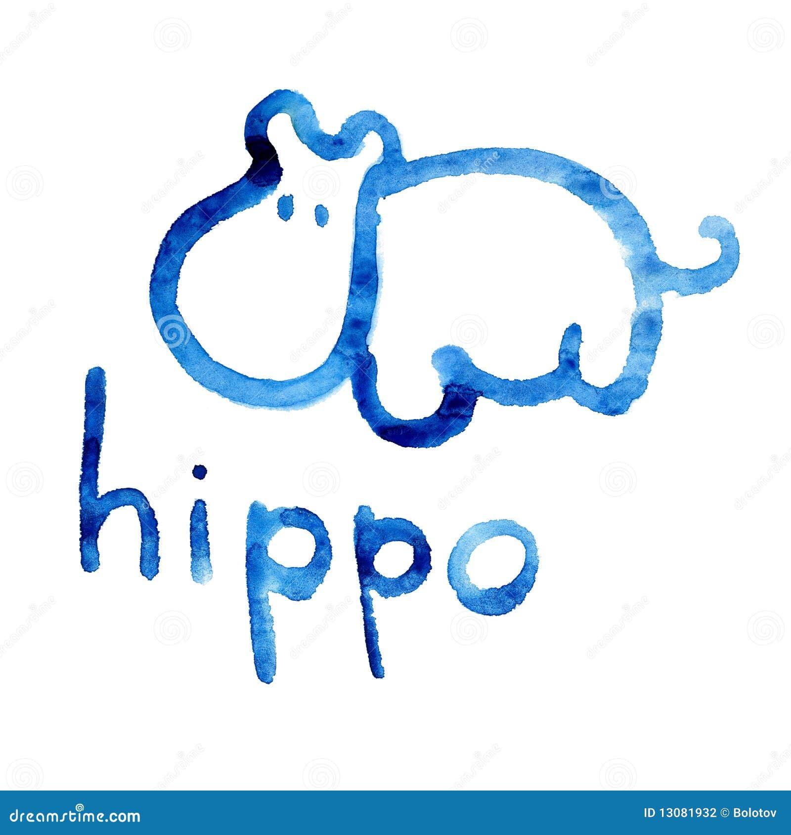 Chiffre En Tag le chiffre d'hippopotame s'est adapté pour la perception de l'enfant