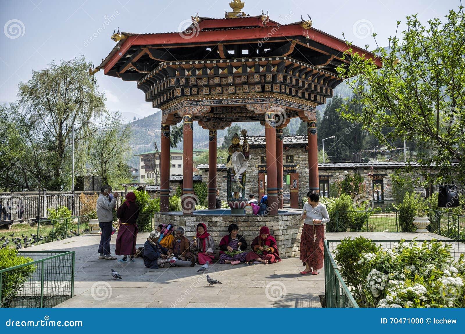 Le Chorten commémoratif national situé à Thimphou, la capitale du Bhutan