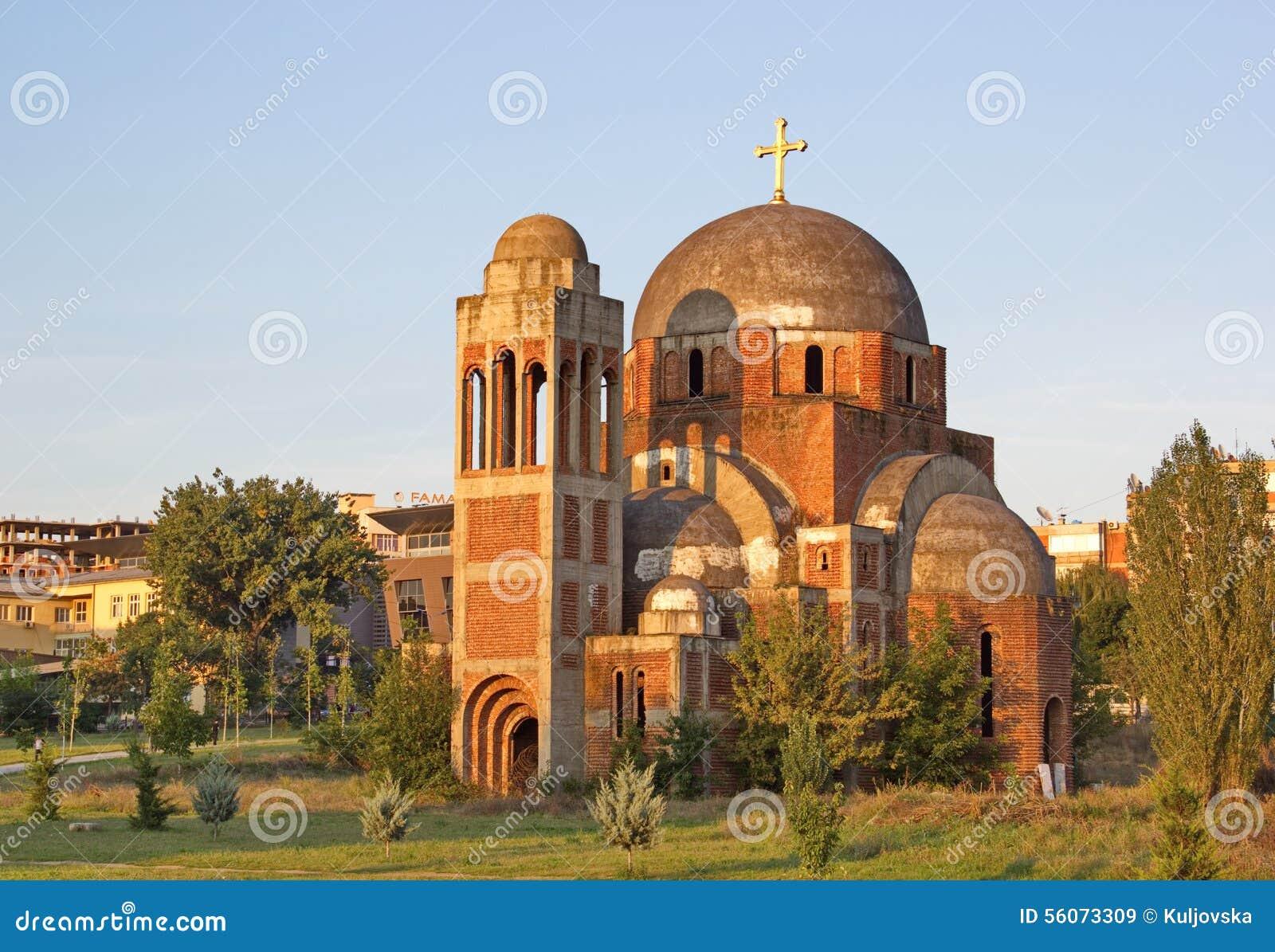 Le Christ non fini la cathédrale de sauveur dans Pristina, Kosovo