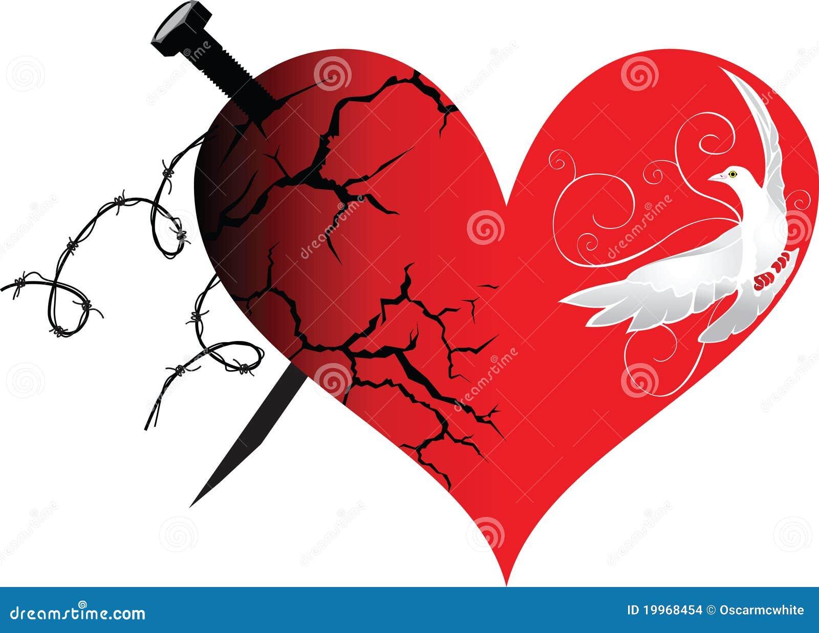 le coeur dans le le bien et le mal illustration de vecteur illustration du affiche int rieur. Black Bedroom Furniture Sets. Home Design Ideas