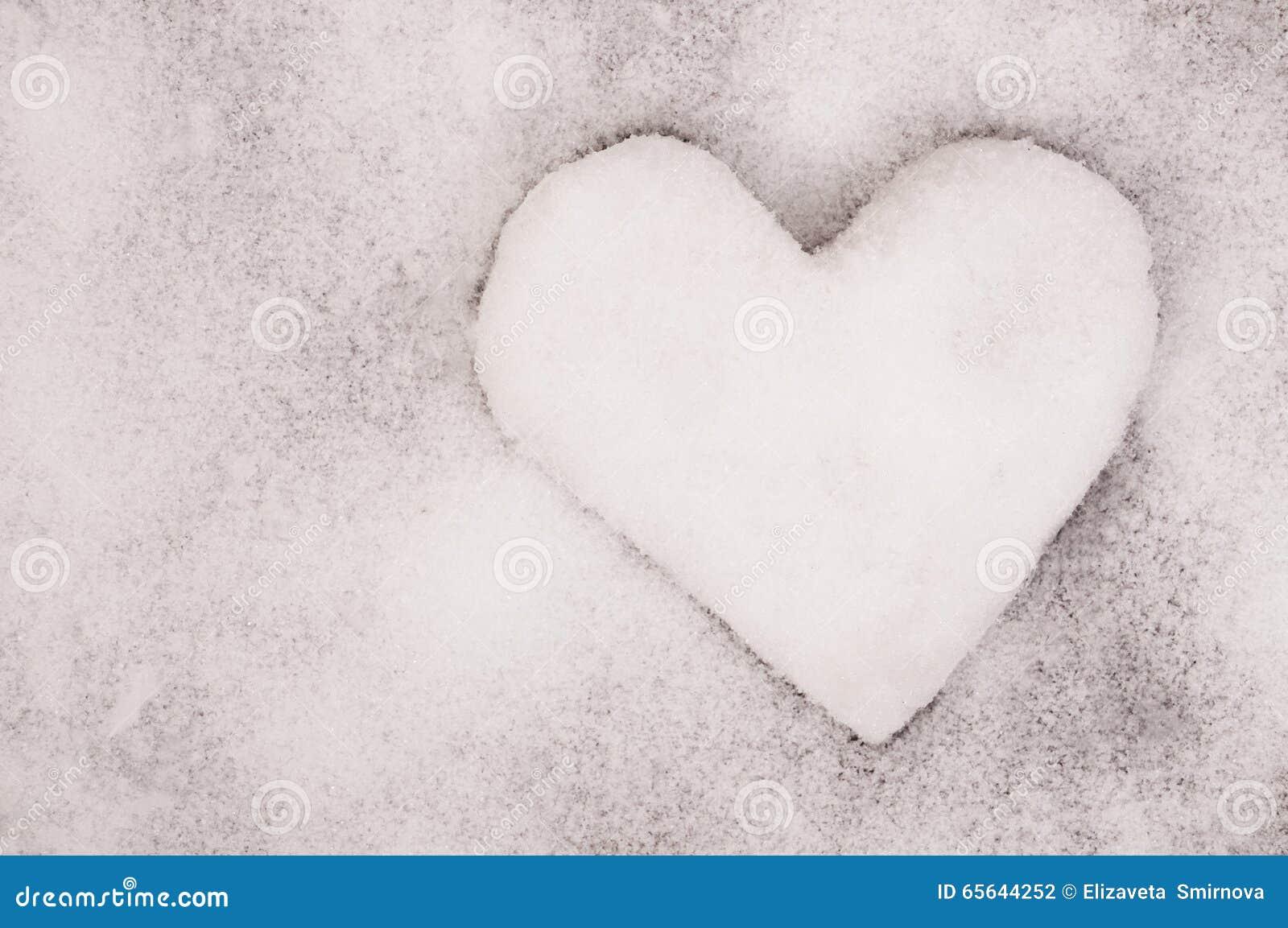 Le coeur de neige