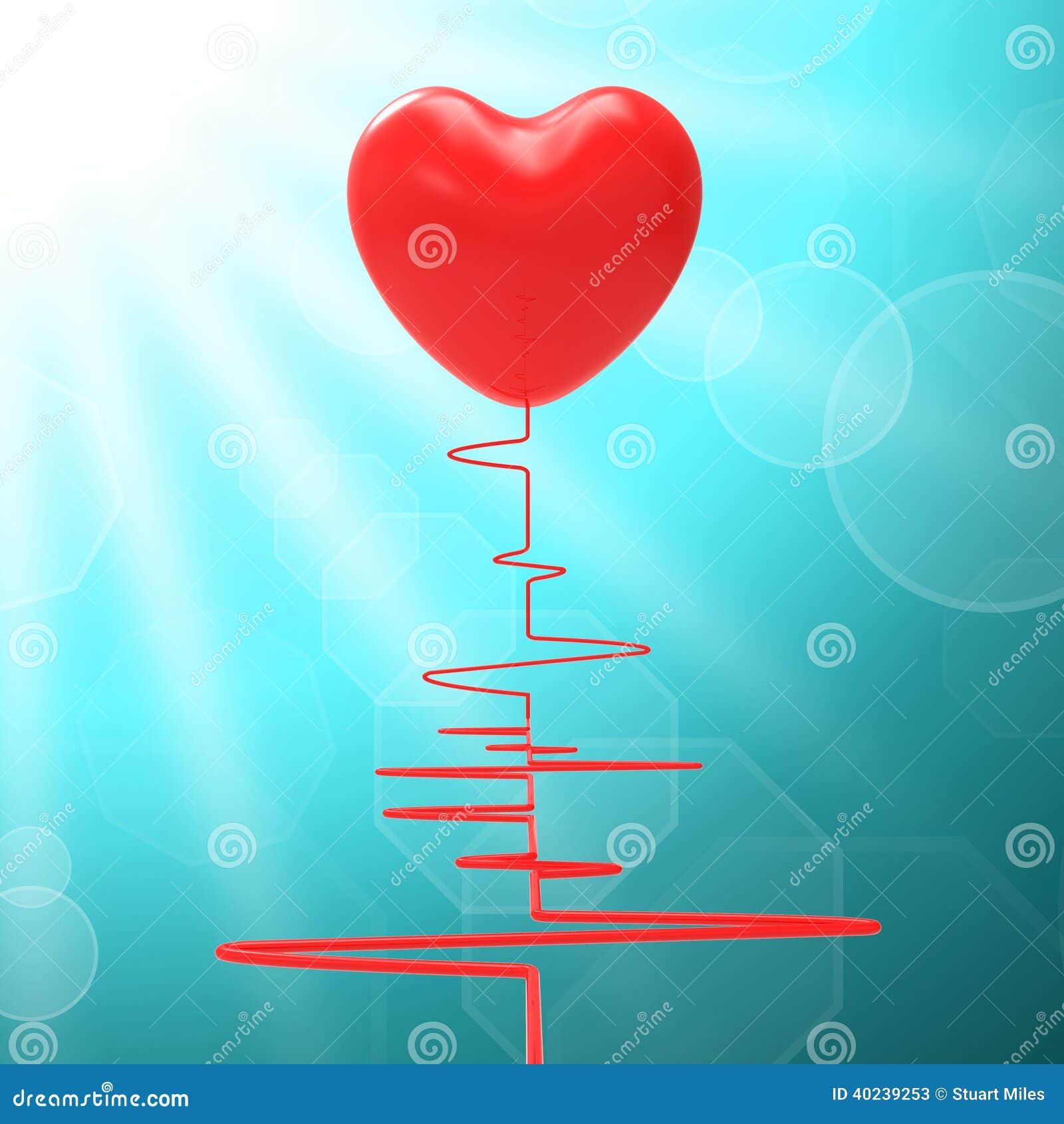 Le coeur sur l électro signifie des relations saines ou