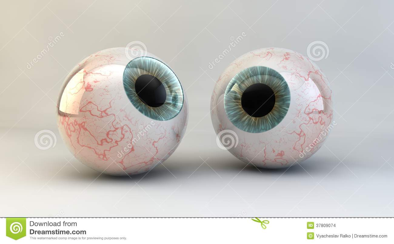 Le concept d un oeil sur un fond blanc.