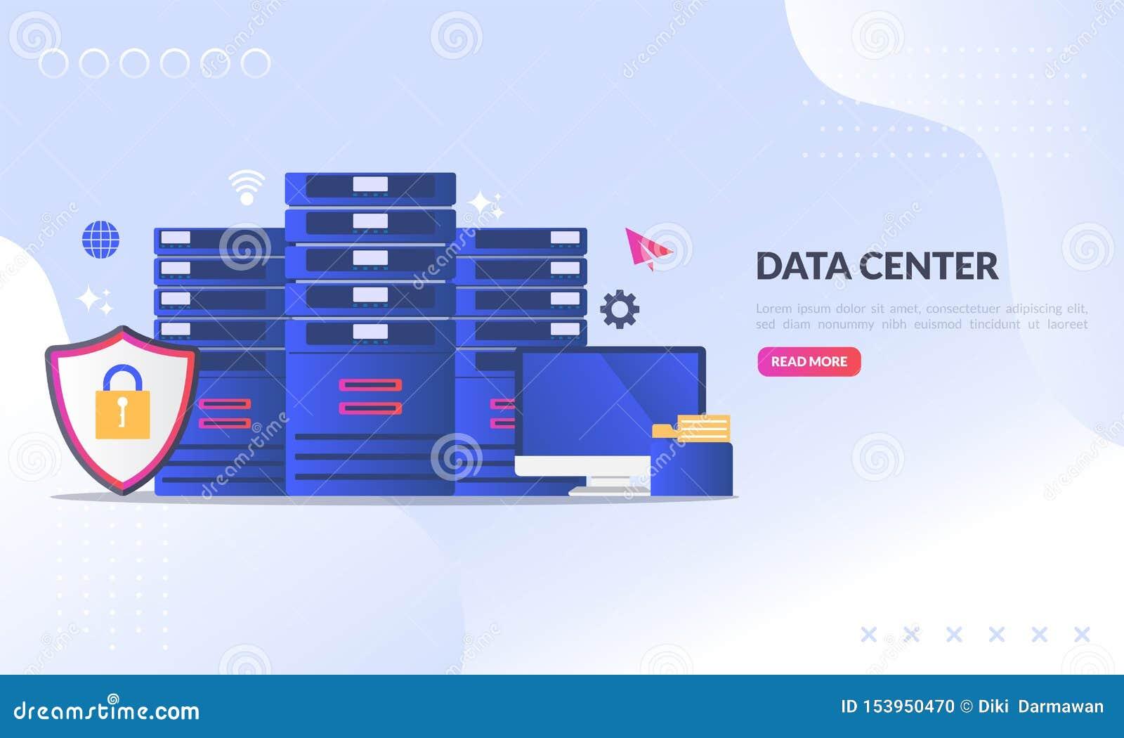 Le concept de centre de traitement des données, technologie de la protection des données et du traitement, serveur principal de c