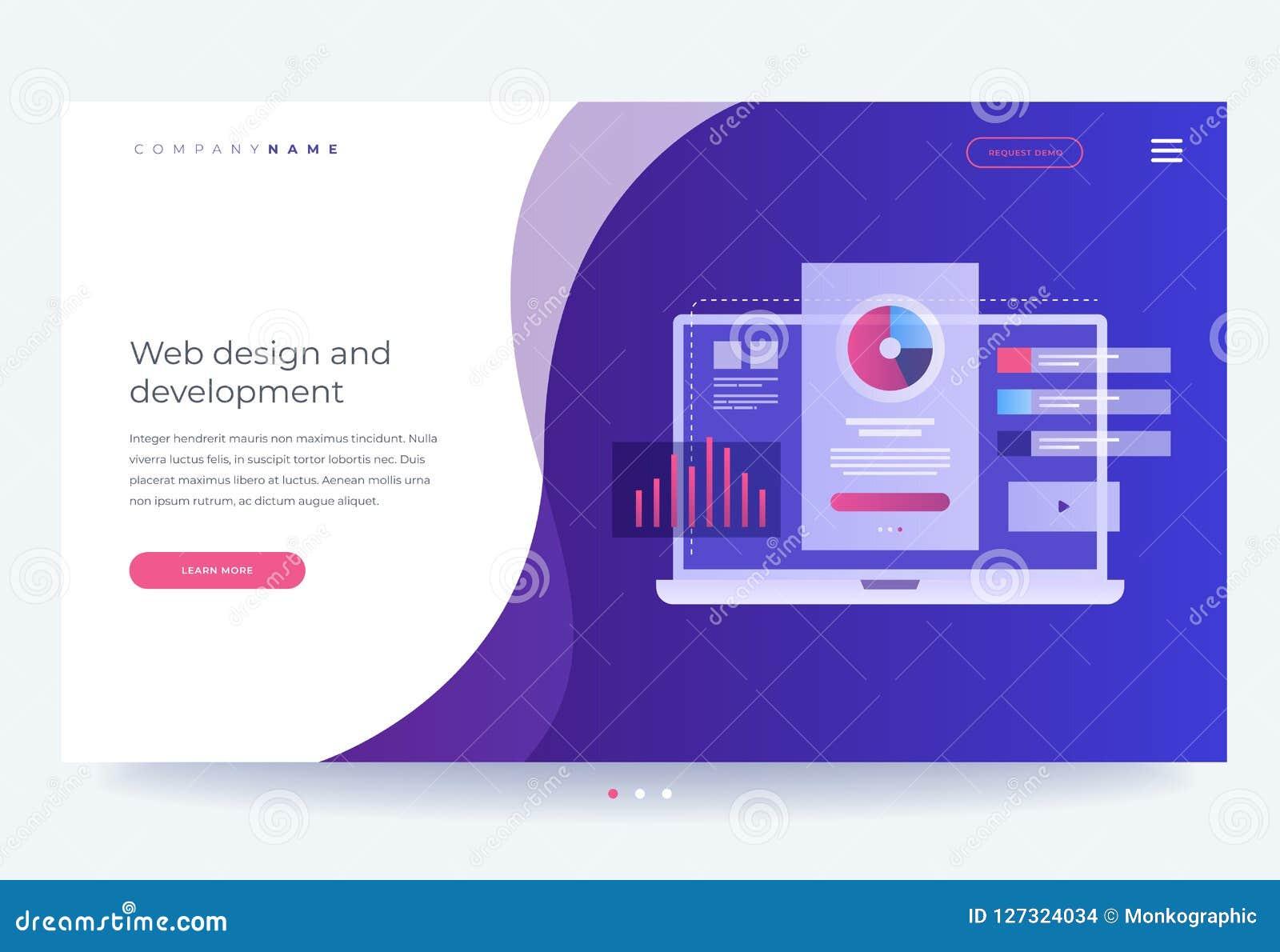 Le concept de développer l interface mobile d UI/UX Industrie de Digital Innovations et technologies