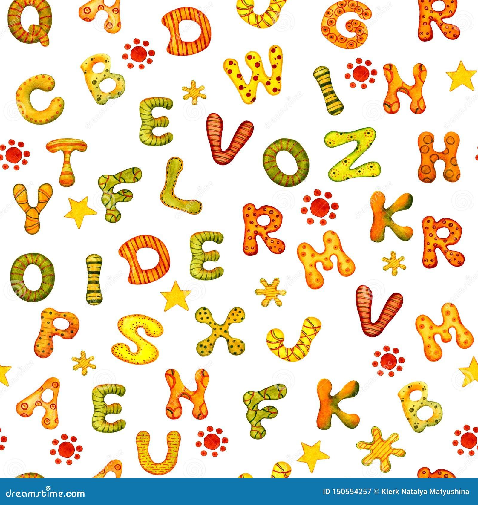 Le concept de l ?ducation Alphabet anglais des lettres multicolores d aquarelle sur un fond blanc pour la conception de la banniè