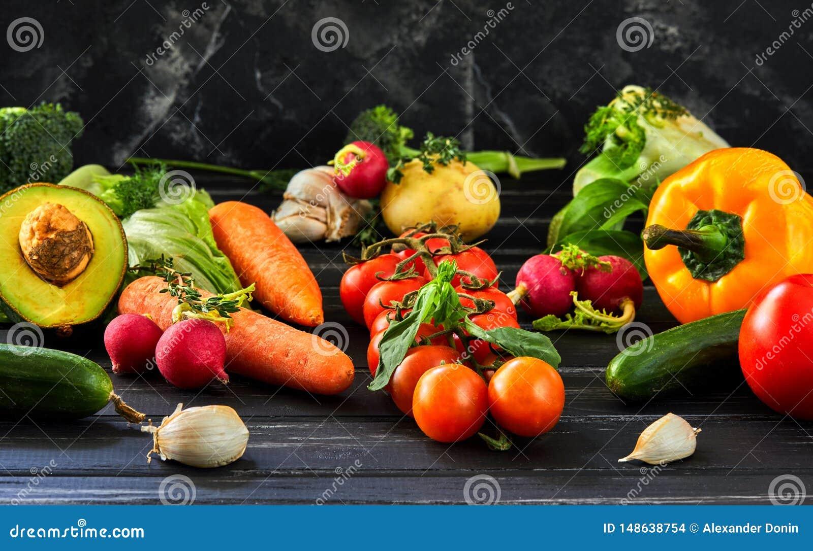Le concept de la consommation saine, des l?gumes frais et des fruits