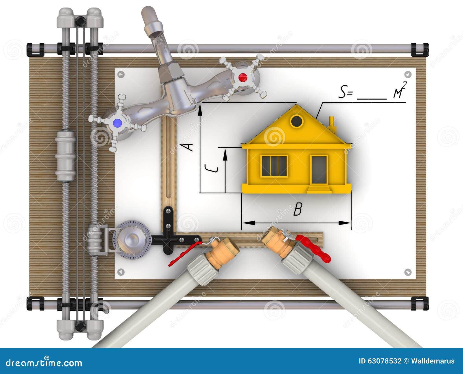 Download Le Concept Du Calcul De L'approvisionnement En Eau à La Maison Illustration Stock - Illustration du retrait, isolement: 63078532