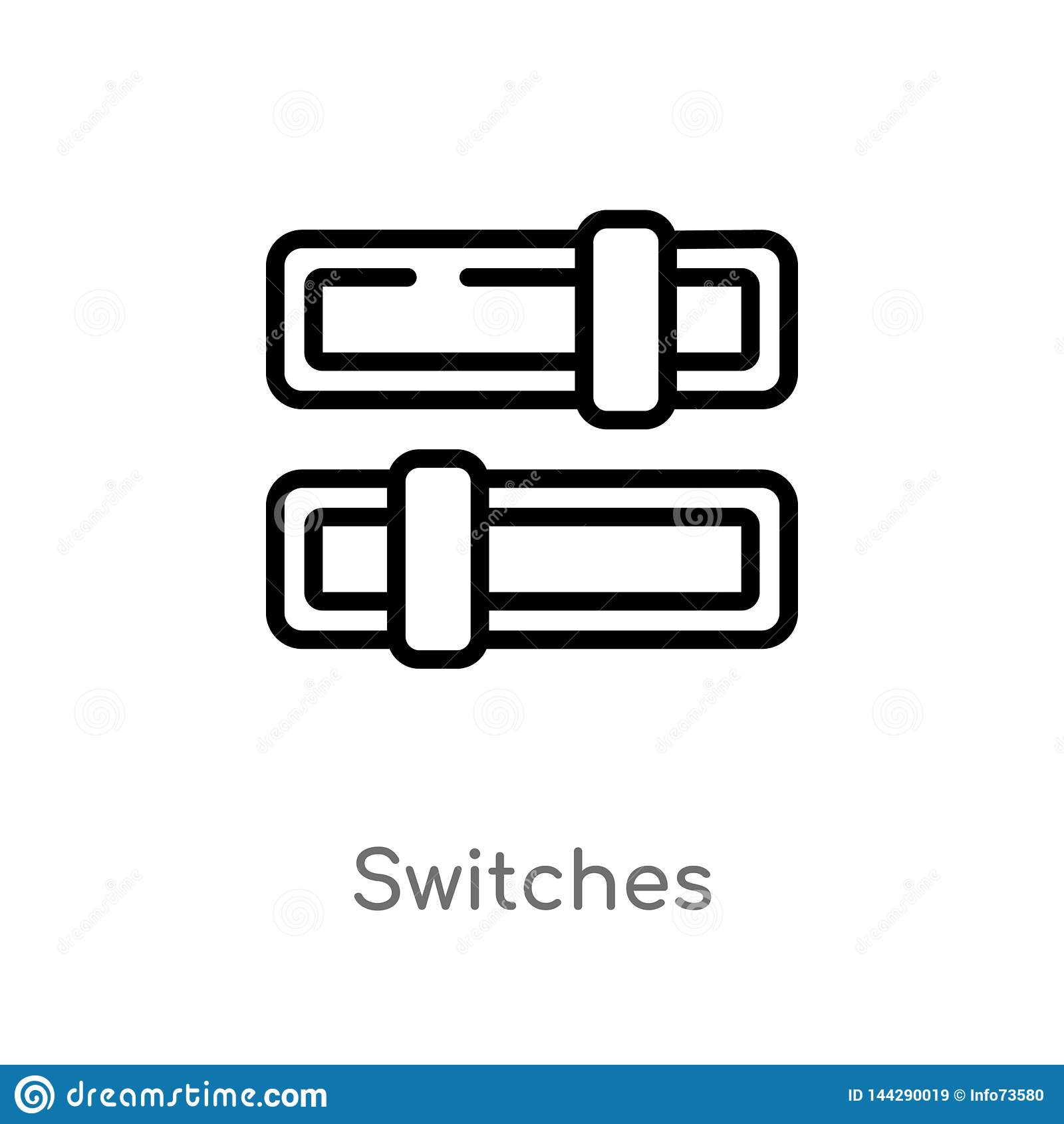 Le contour commute l ic?ne de vecteur ligne simple noire d isolement illustration d ?l?ment de concept de multim?dia Course Edita