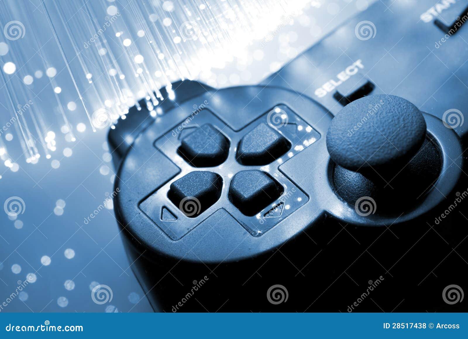 Le contrôleur de jeu a modifié la tonalité le bleu