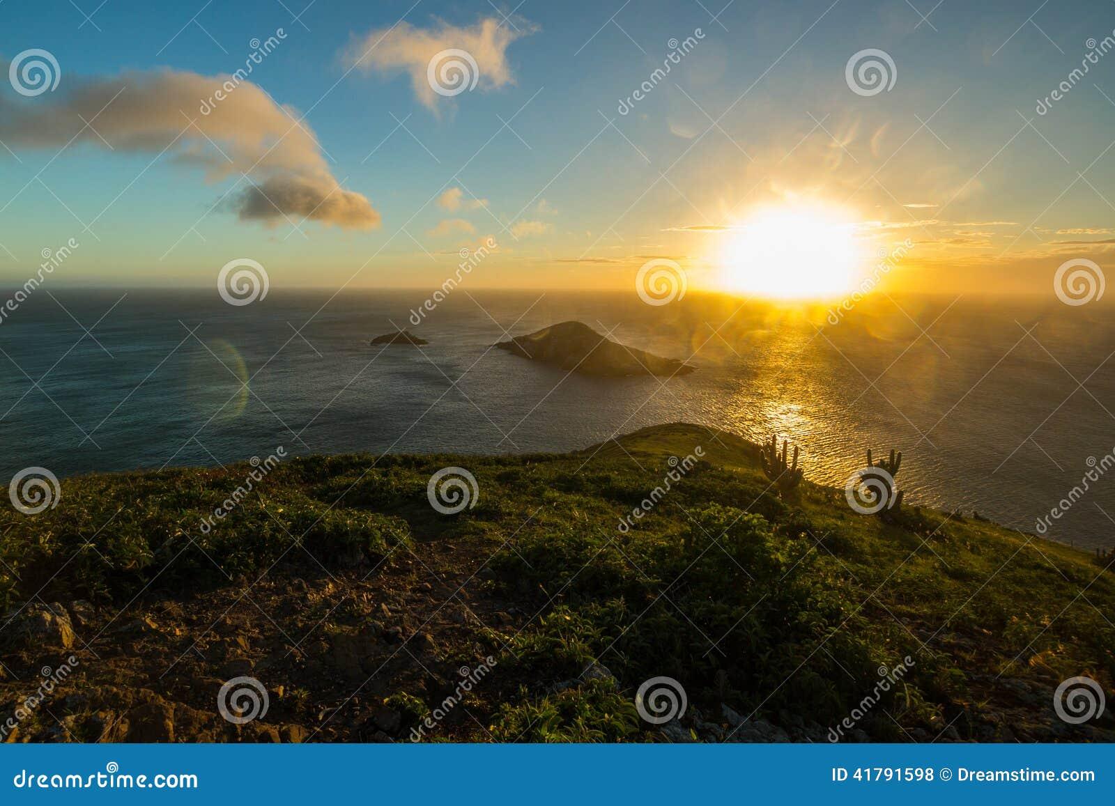Le coucher du soleil chez Arraial font Cabo