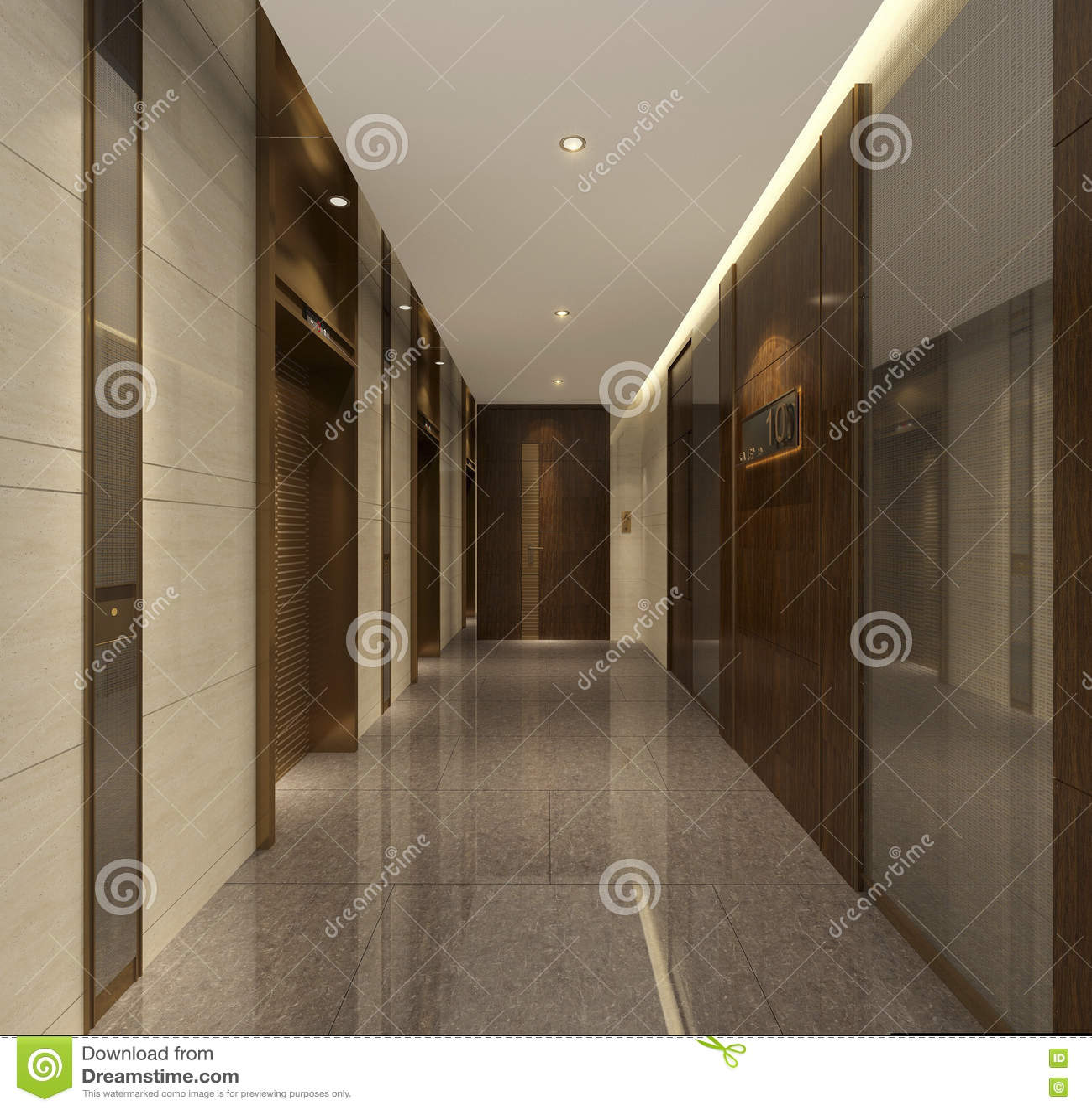 Le Couloir De L\'appartement Supérieur De Décoration Primitive De ...