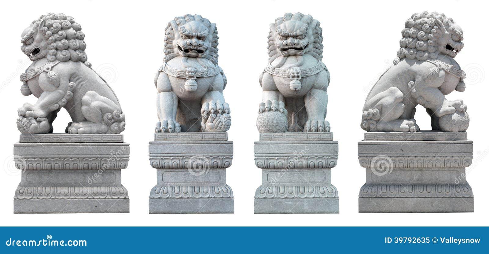 Le coupé du lion en pierre