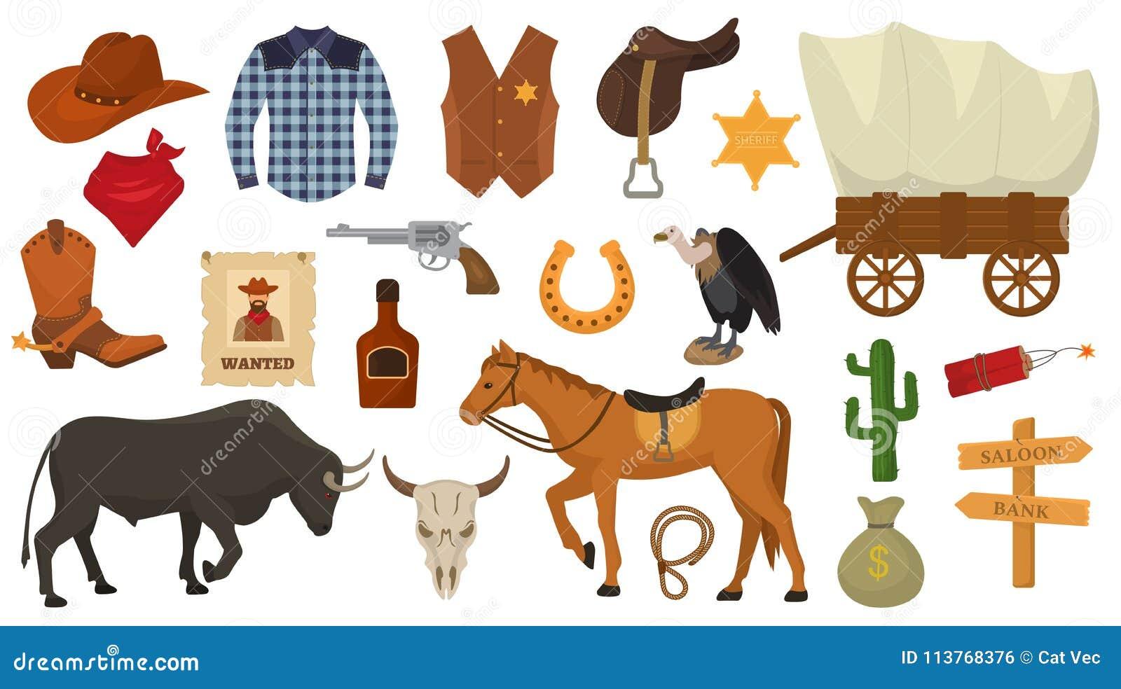 Le cowboy occidental ou le shérif de vecteur occidental sauvage signe le chapeau ou le fer à cheval dans le désert de faune avec