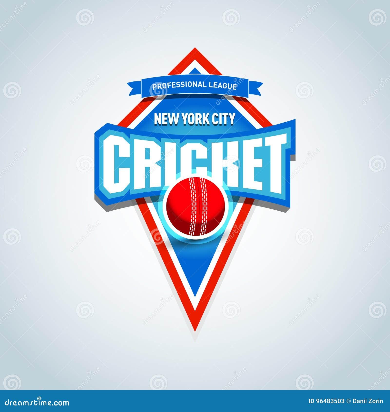 Le cricket folâtre le logo, label, emblème Calibre de logo d insigne de cricket, graphiques de T-shirt de sport Illustration de v