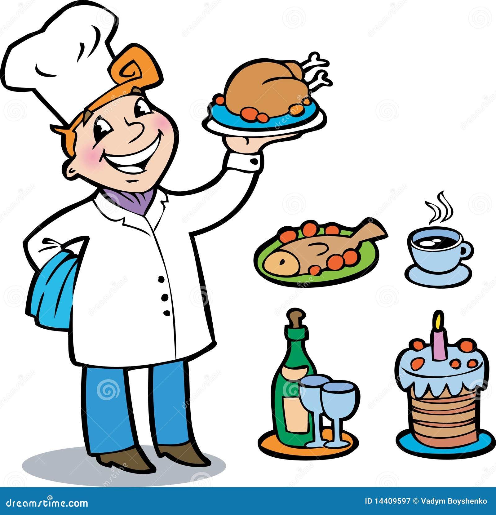 Le cuisinier gai photographie stock libre de droits for Cuisinier 68